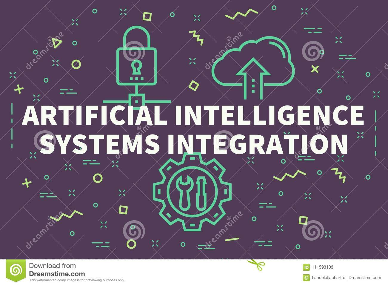 Conceptual Business Illustration With The Words Artificial Intel