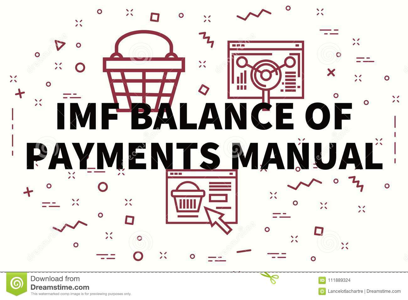 Conceptual Business Illustration With The Words Imf Balance Of P