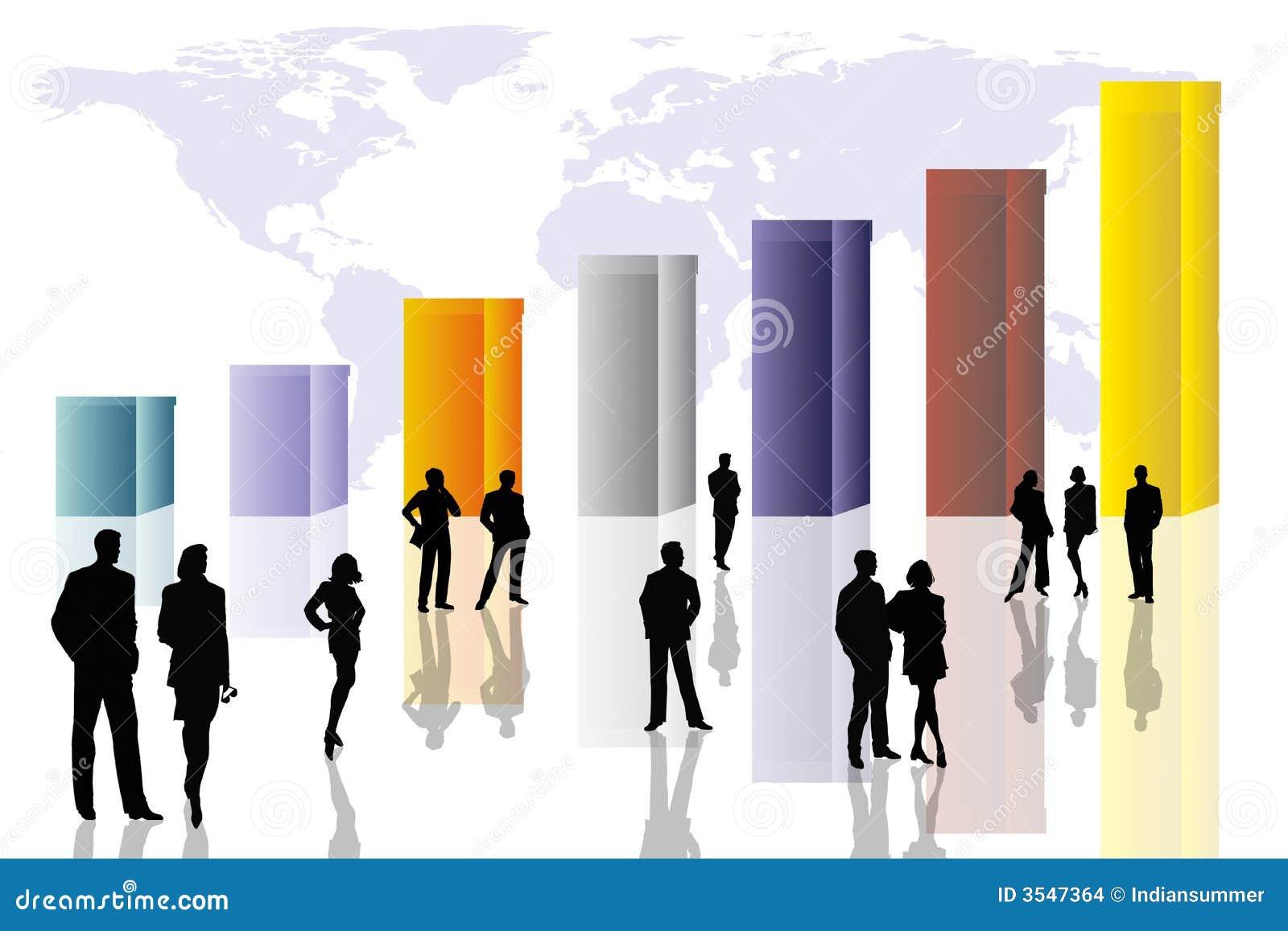 Conceptual business scene