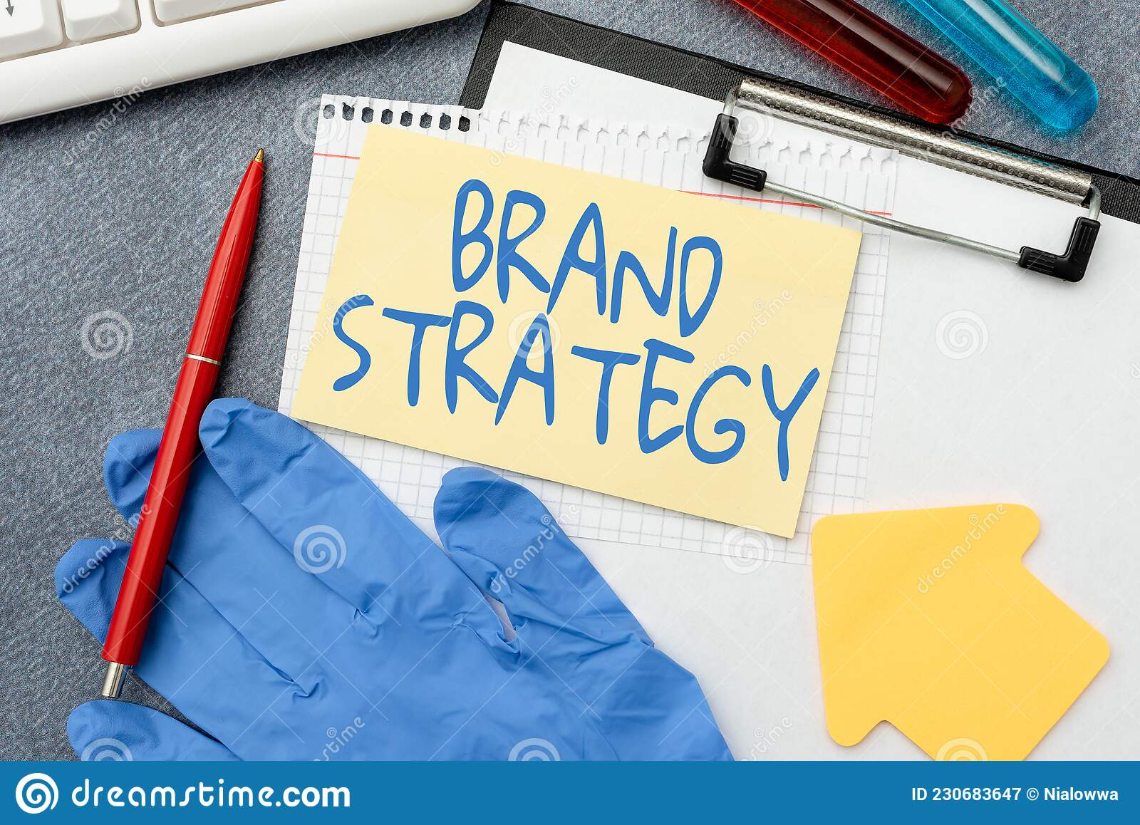 Conceptual Caption Brand Strategy. Business Concept Long ...