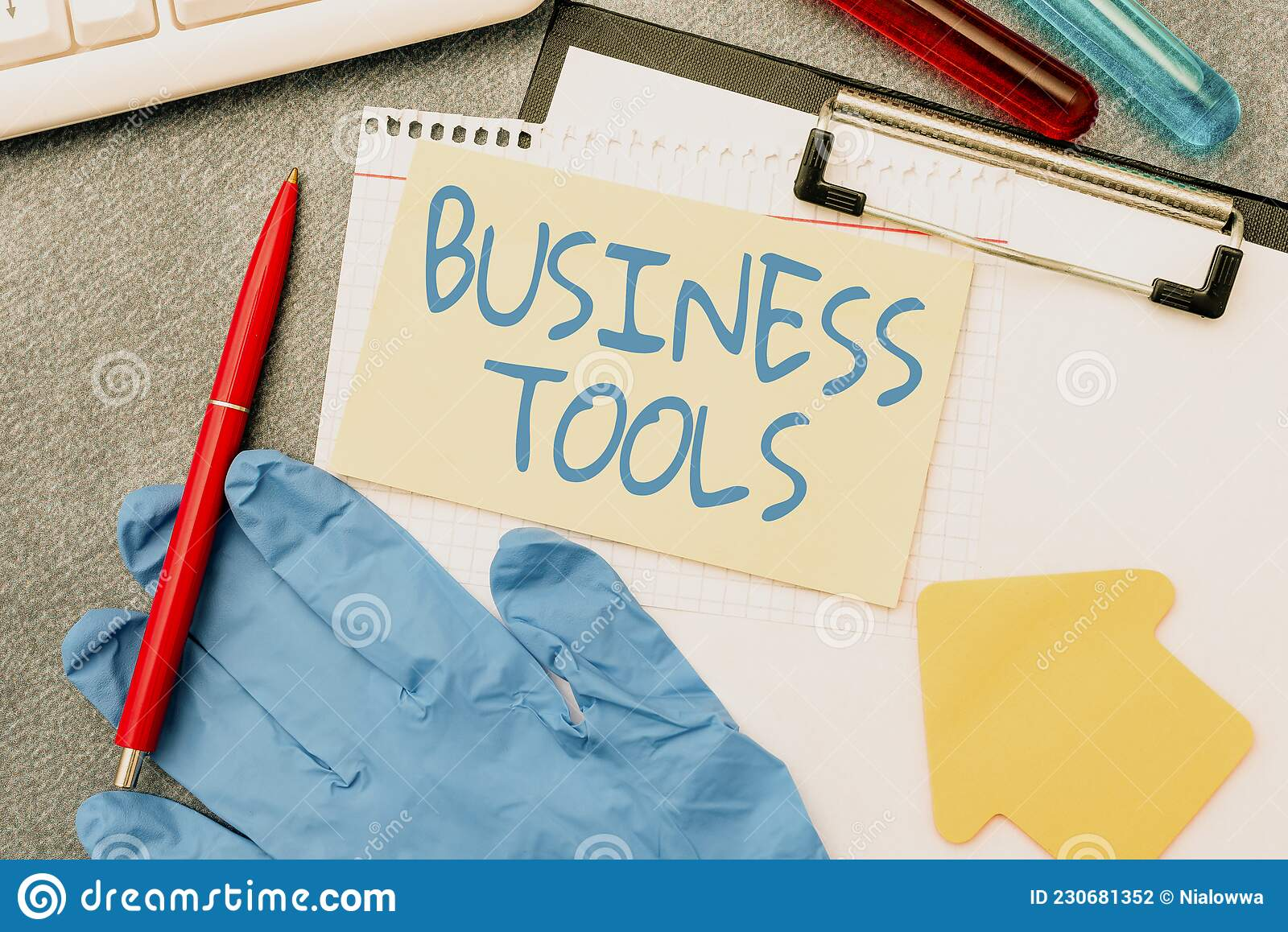 Text Sign Showing Business Tools. Internet Concept ...