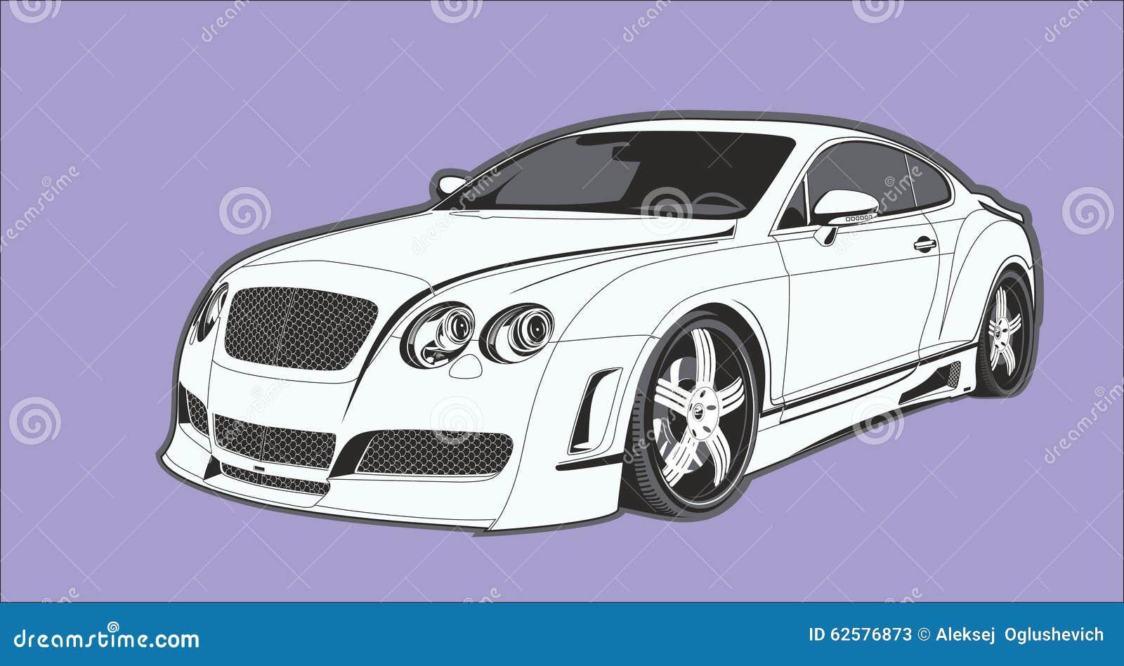 The conceptual car stock illustration. Illustration of sedan - 62576873