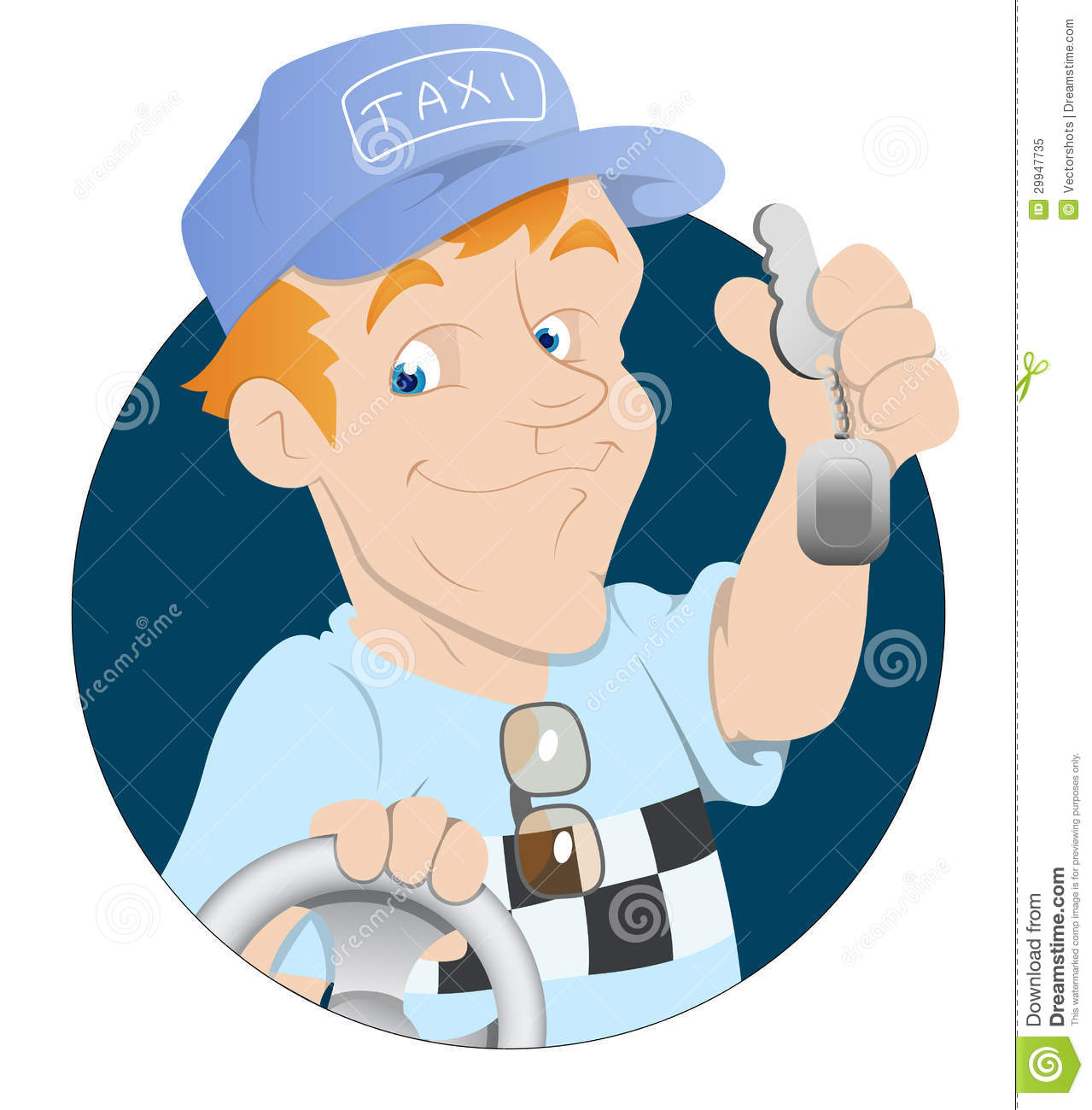 Drivers Awake To Find Cars Keyed In Penwortham: Taxi Driver Stock Vector. Illustration Of Expression