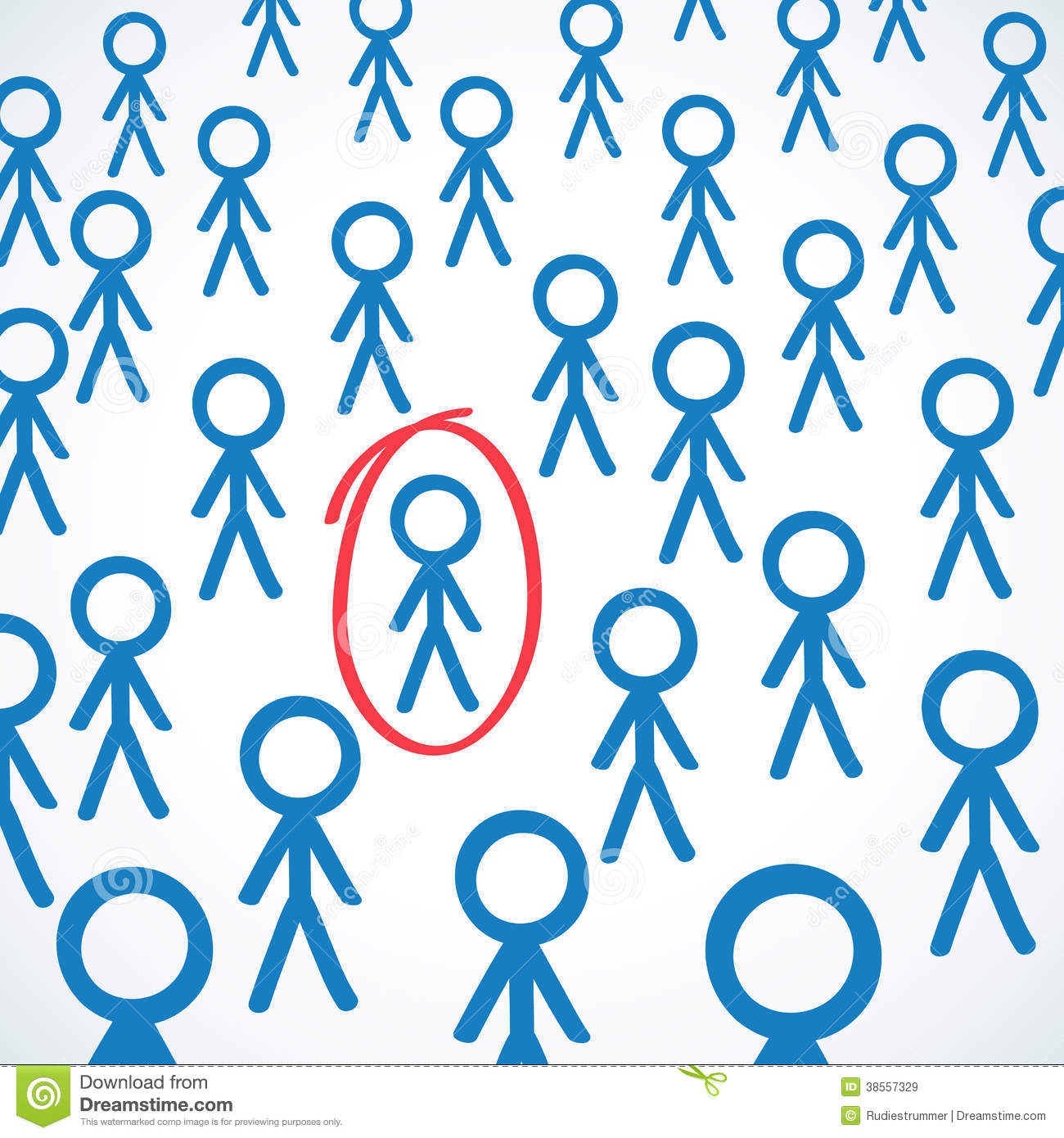 how to draw a crowd of stick figures
