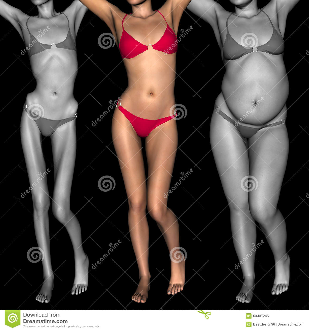 And woman fat skinny