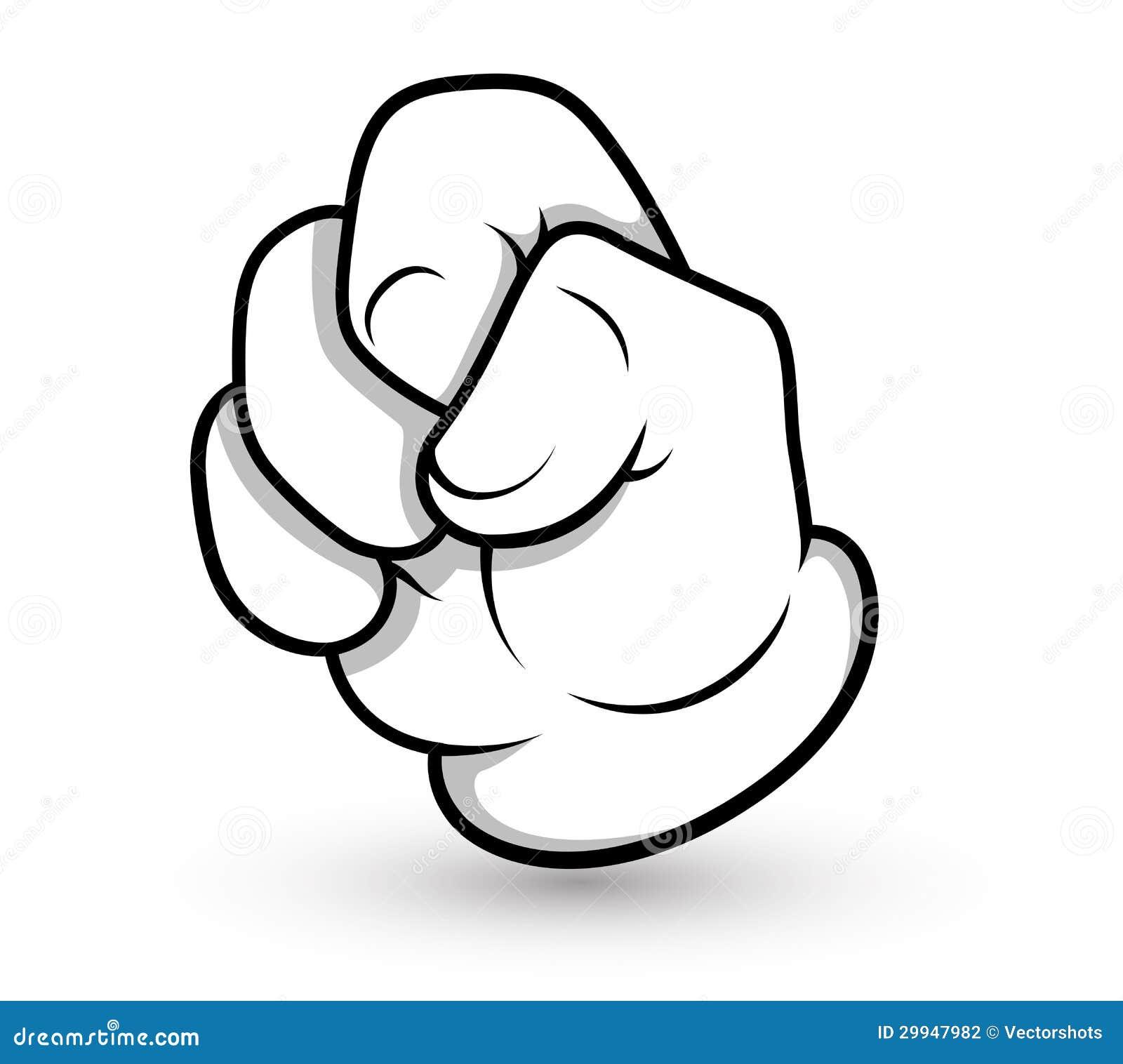 Cartoon Hand Gesture Stock Photography - Image: 29947982