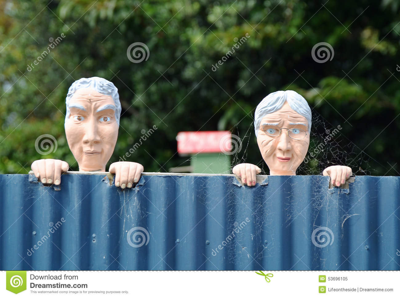 Conceptual Funny Nosy Neighbours Old Man Amp Woman Looking