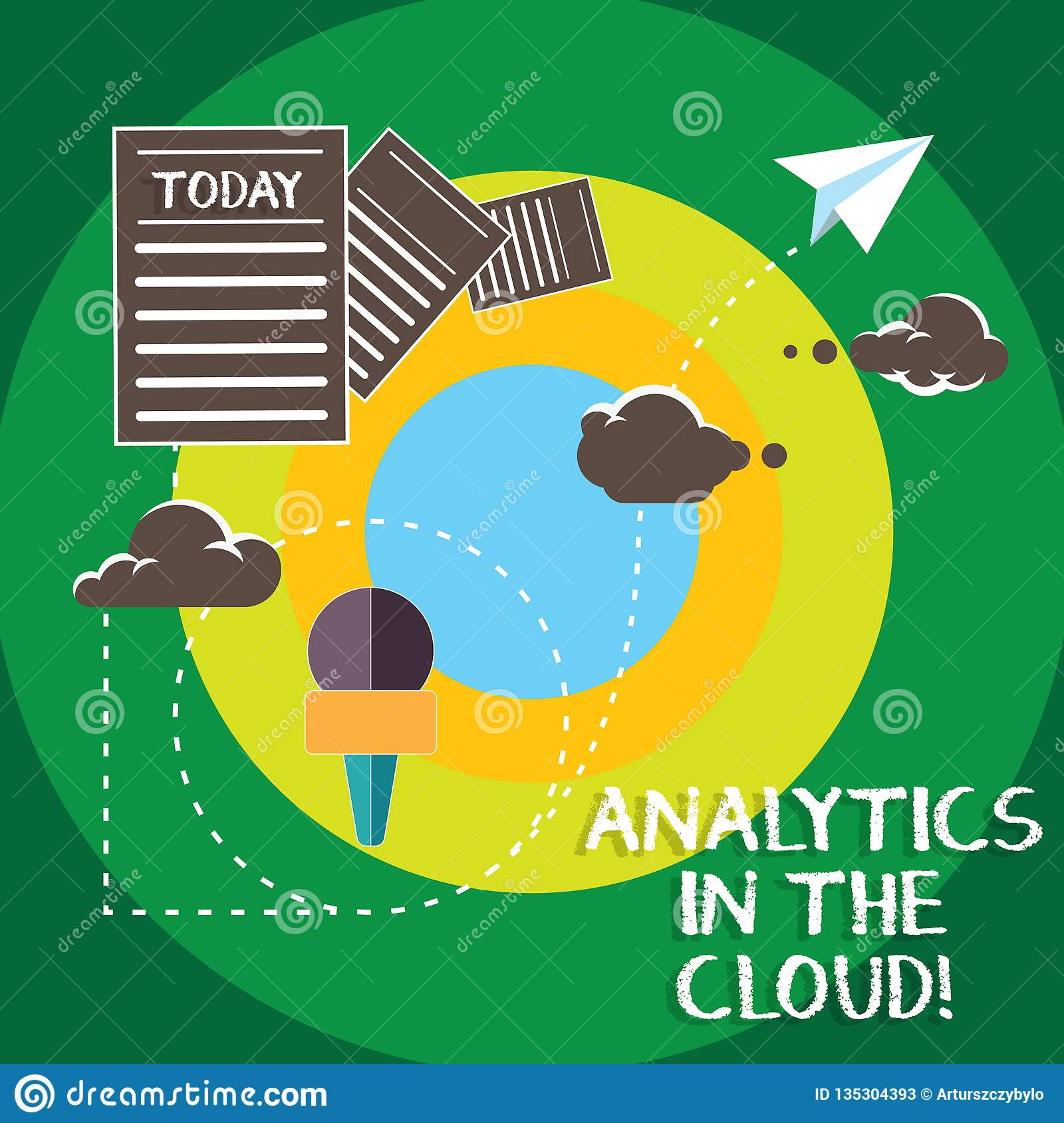 Conceptual Hand Writing Showing Analytics In The Cloud Business Photo Text New Modern Online File Storage Systems Analysis Stock Illustration Illustration Of Virtual Corporate 135304393