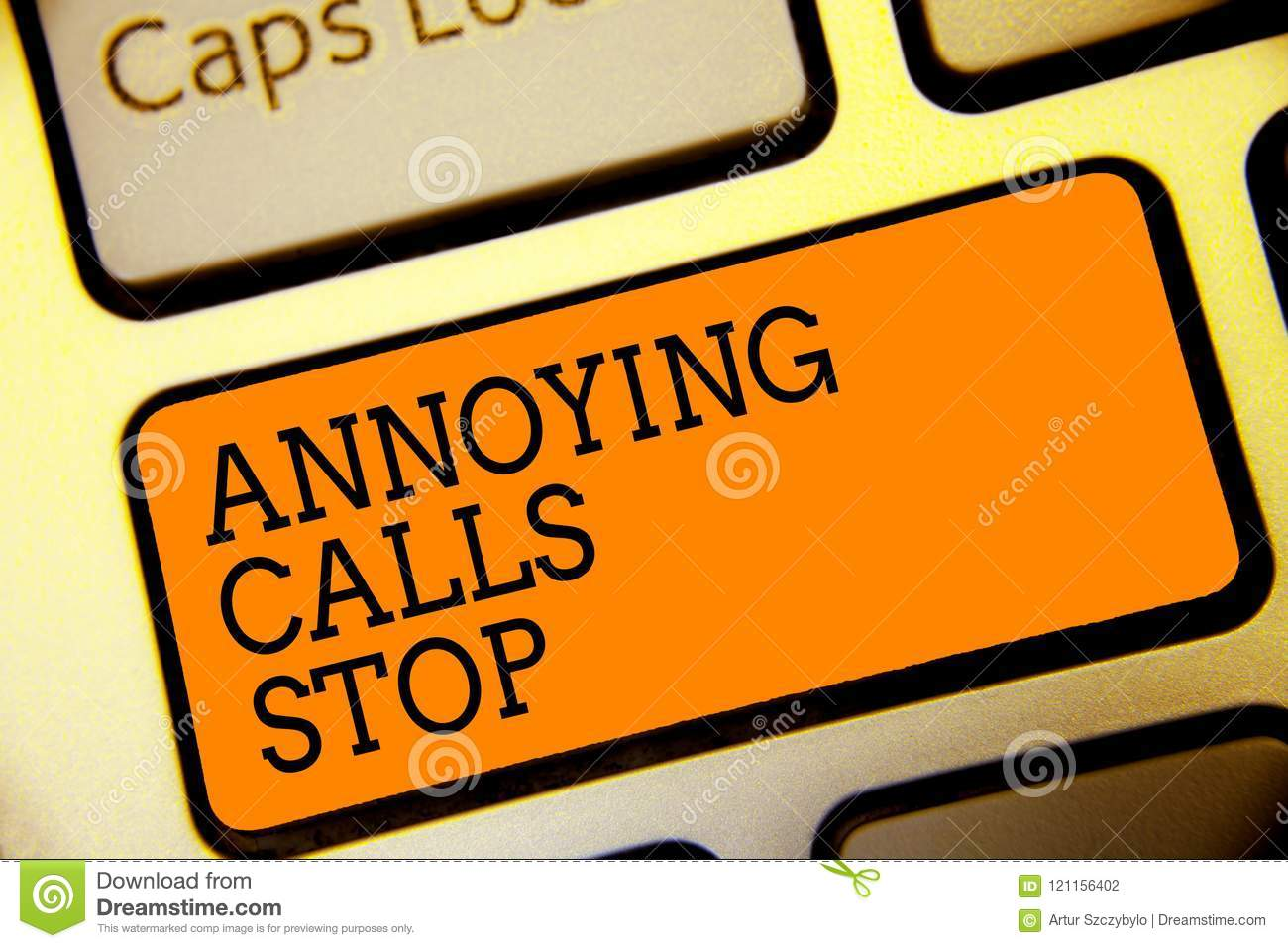 Conceptual Hand Writing Showing Annoying Calls Stop