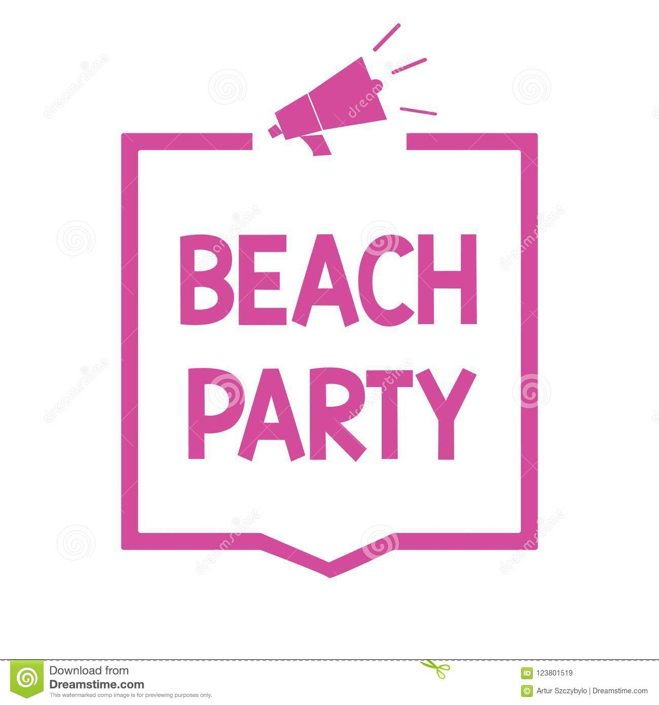 Conceptual Hand Writing Showing Beach Party. Business Photo ...
