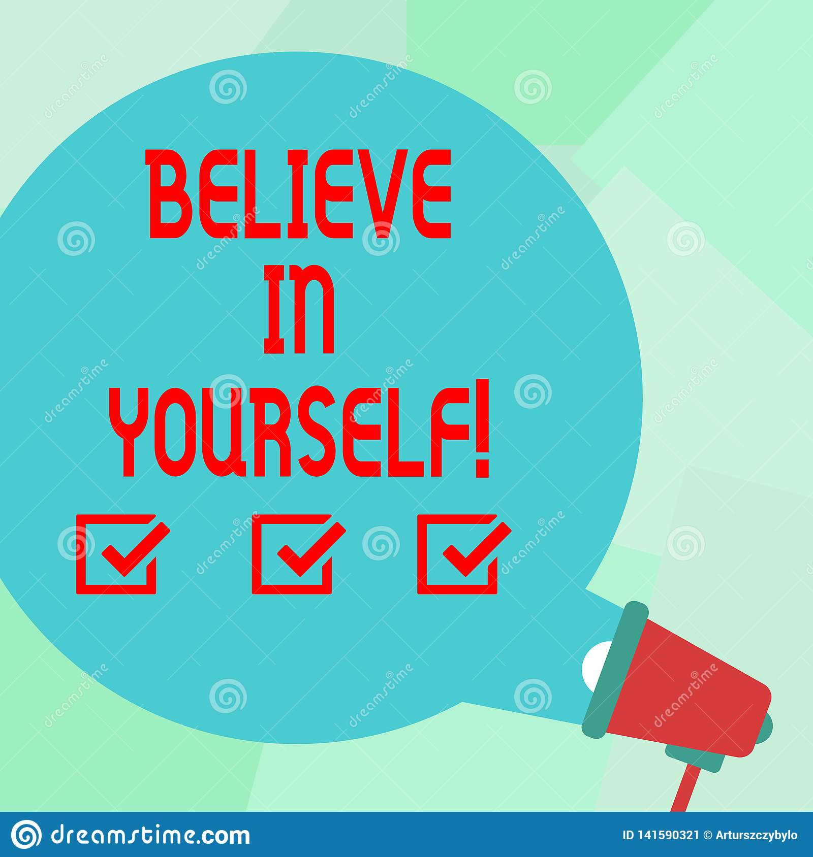 Conceptual Hand Writing Showing Believe In Yourself
