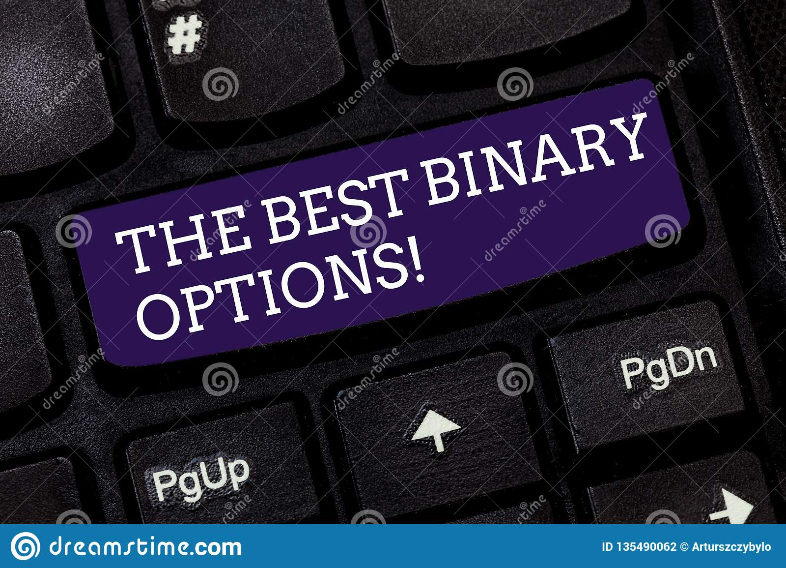 Conceptual hand writing showing The Best Binary Options. Business photo text Great financial option fixed monetary