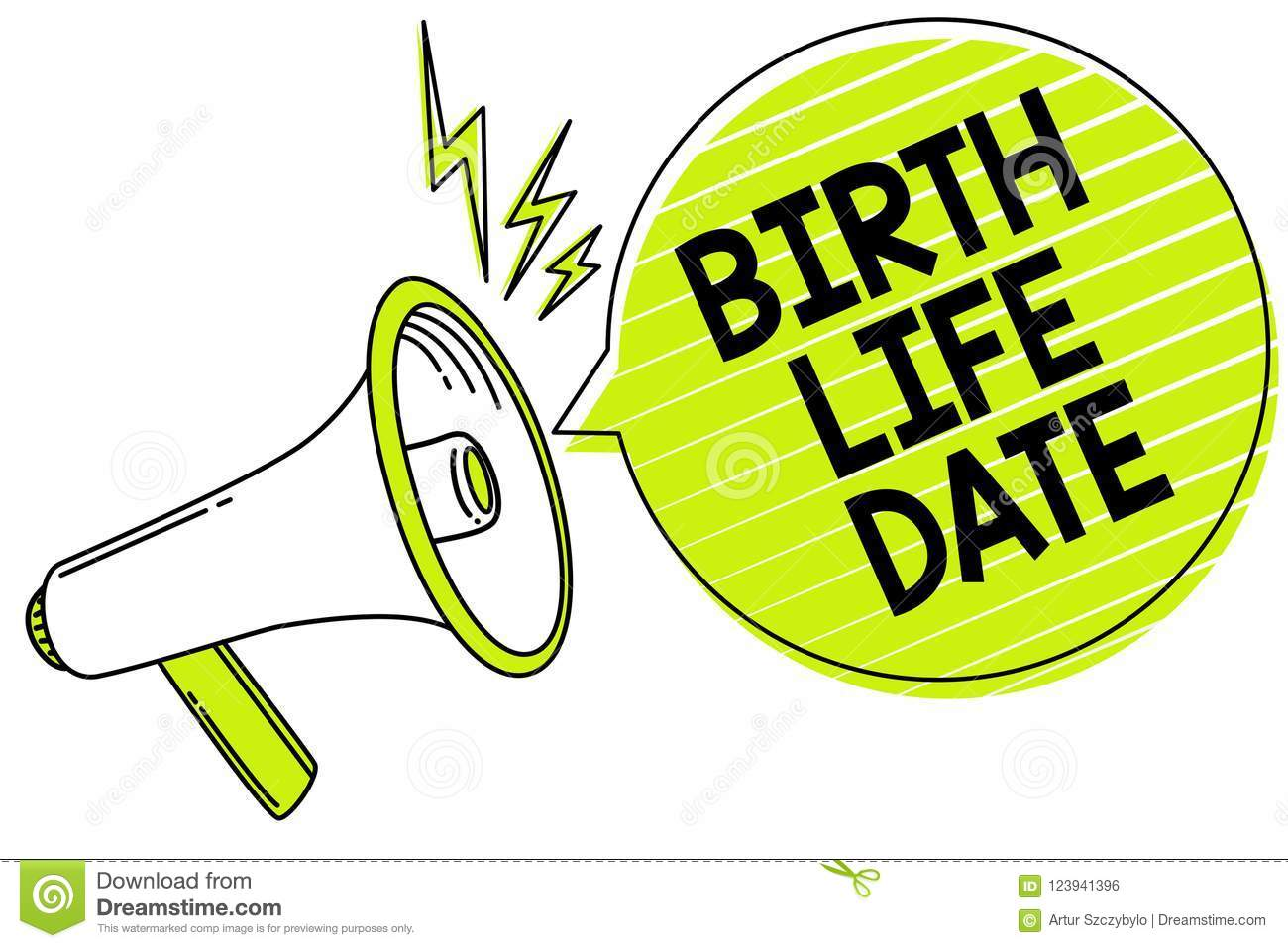 Conceptual Hand Writing Showing Birth Life Date  Business Photo Text