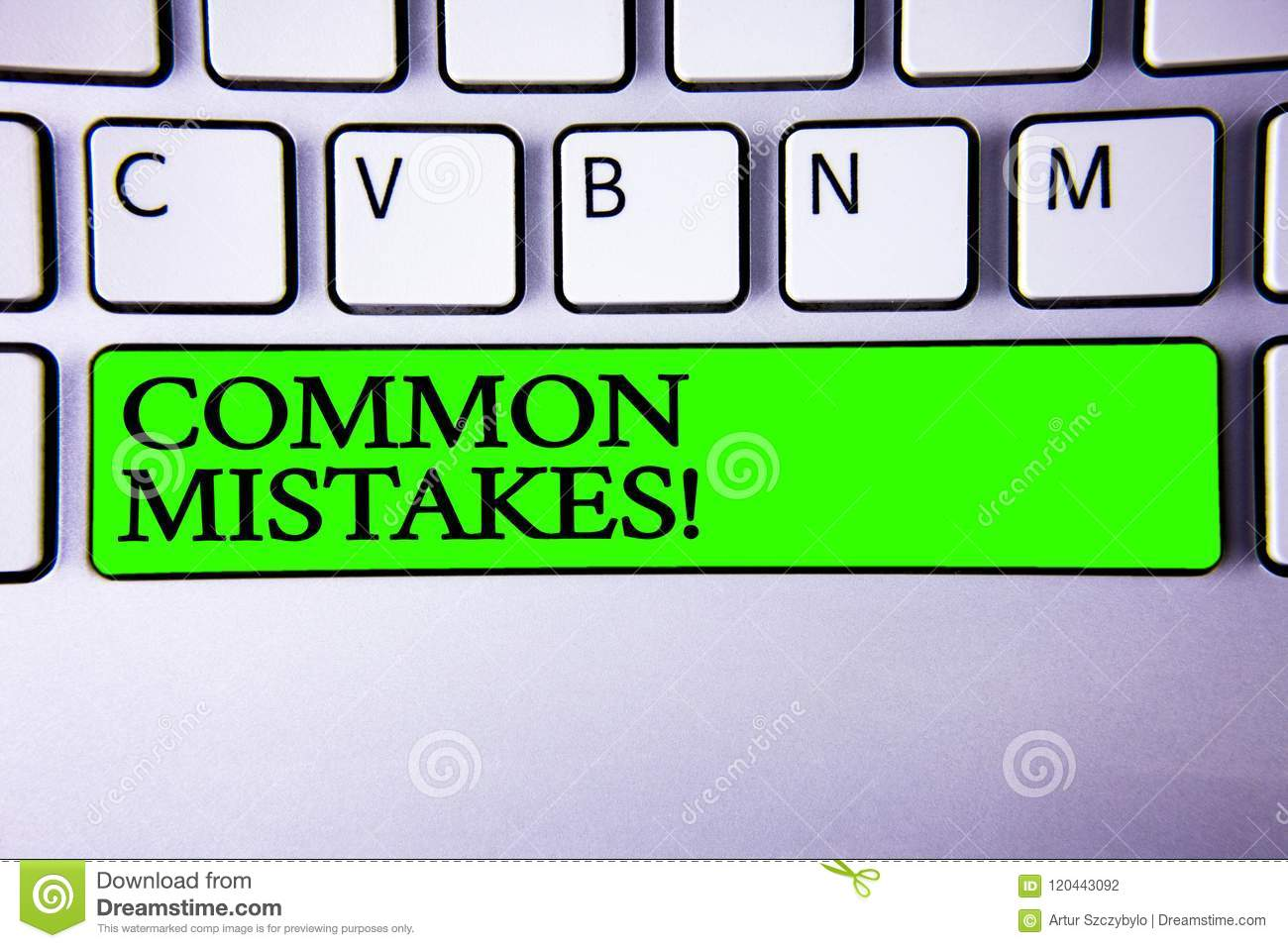Conceptual hand writing showing Common Mistakes Motivational Call. Business photo showcasing lot of people do same action in wrong