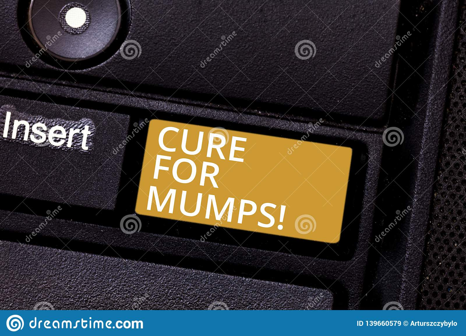 Conceptual hand writing showing Cure For Mumps. Business photo text Medical treatment for contagious infectious disease