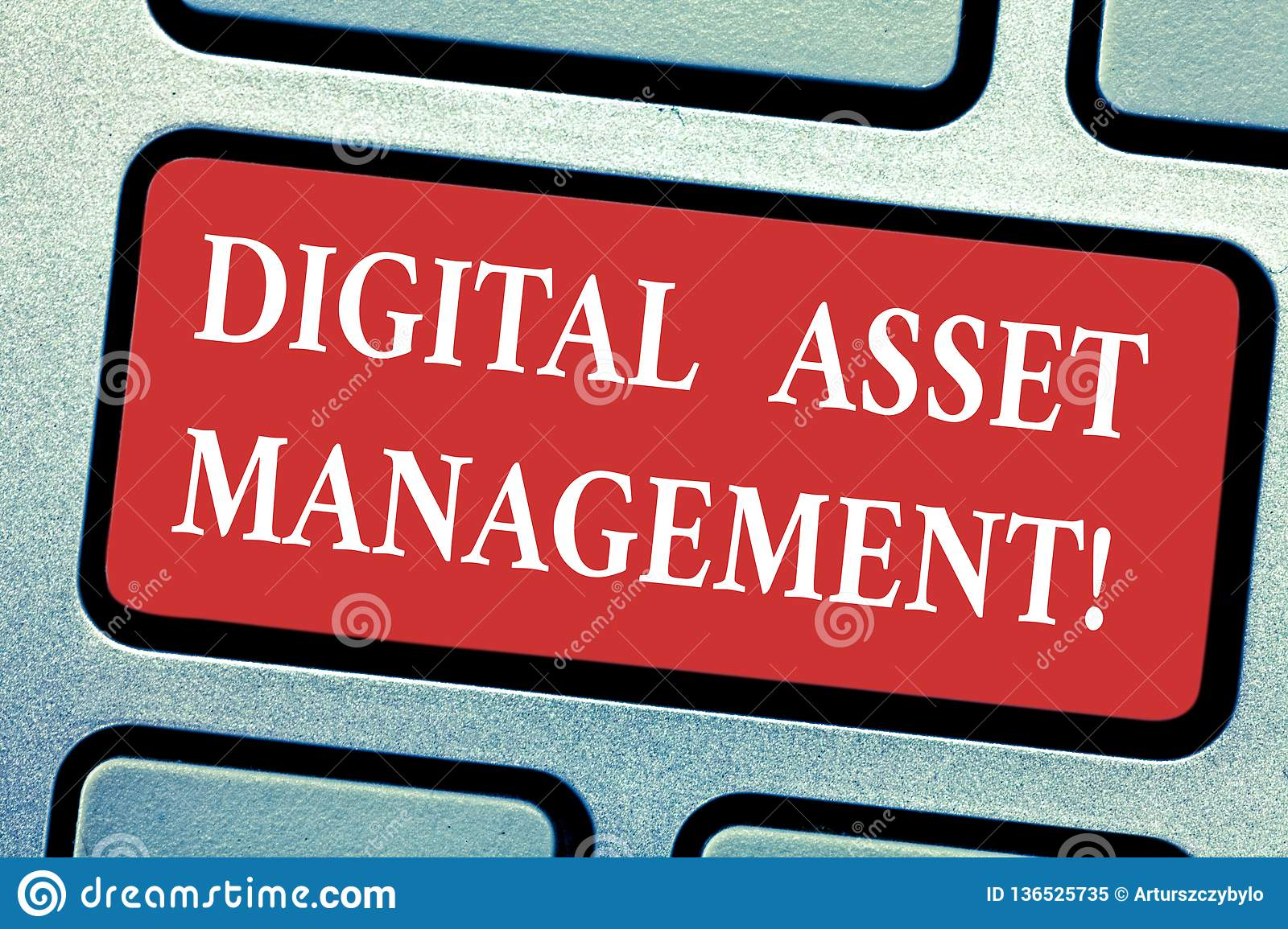 Conceptual hand writing showing Digital Asset Management. Business photo text Business processes for analysisaging digital