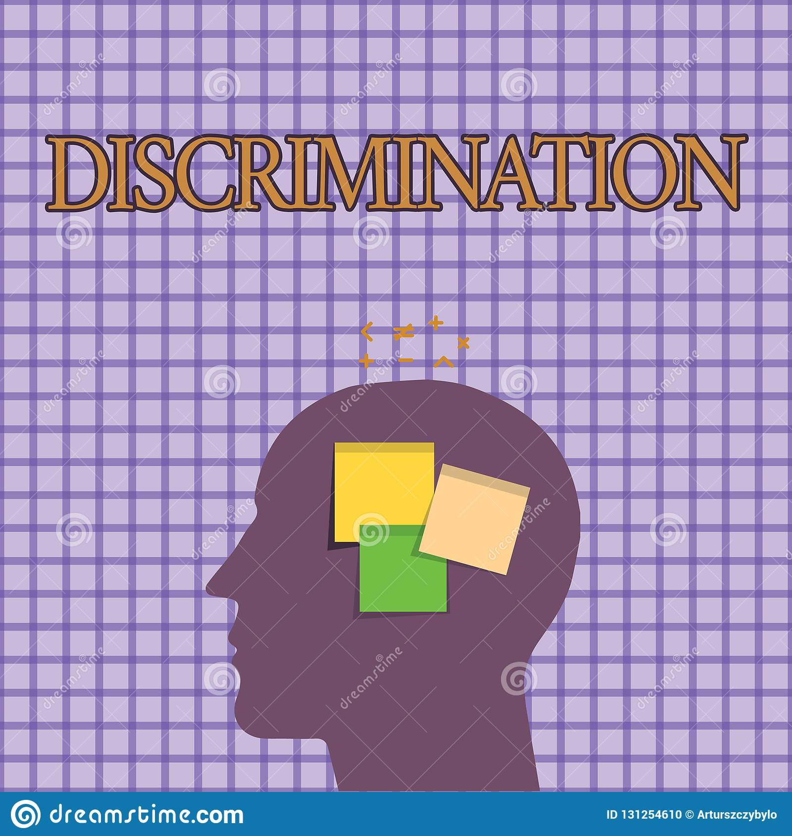 Conceptual hand writing showing Discrimination. Business photo showcasing Prejudicial treatment of different categories of showing