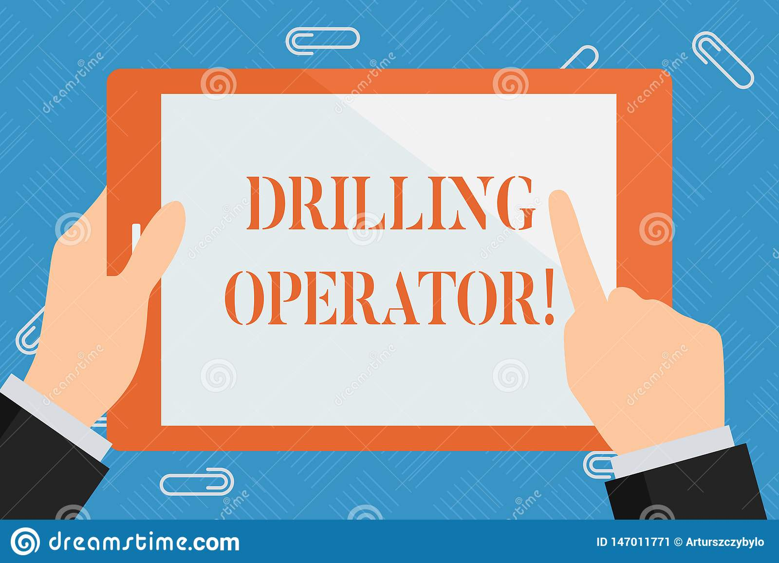 Conceptual hand writing showing Drilling Operator. Business photo showcasing someone that do the rigging and drilling