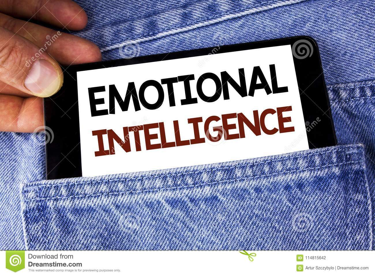 Conceptual hand writing showing Emotional Intelligence. Business photo text Capacity to control and be aware of personal emotions