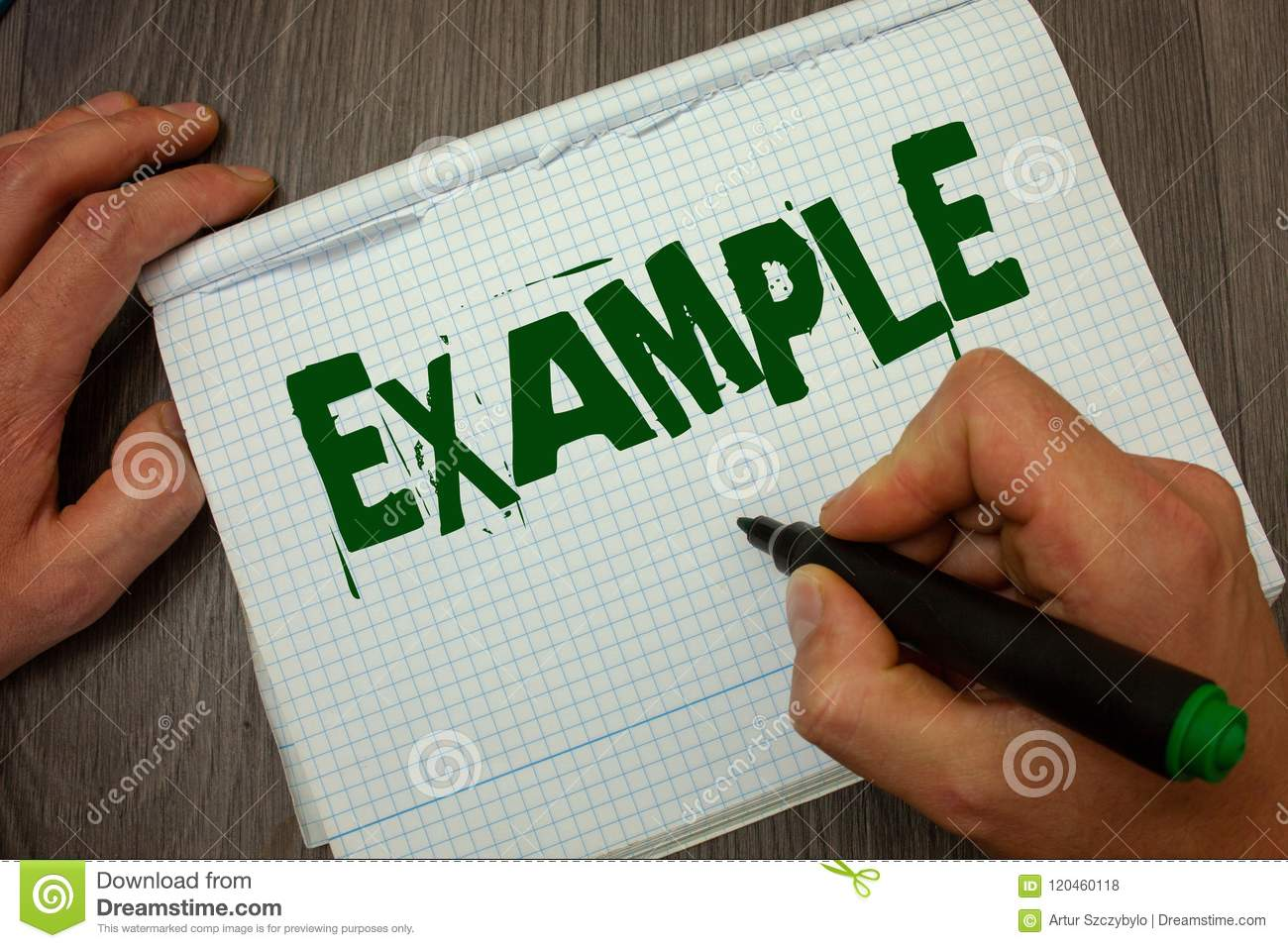 Conceptual hand writing showing Example. Business photo text Illustration Sample Model to follow Guide Explanation For instance Ma