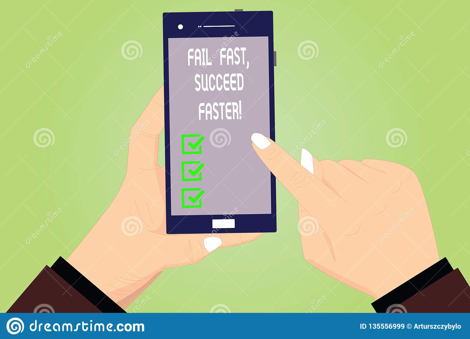 Conceptual hand writing showing Fail Fast Succeed Faster. Business photo text Do not give up keep working on it to