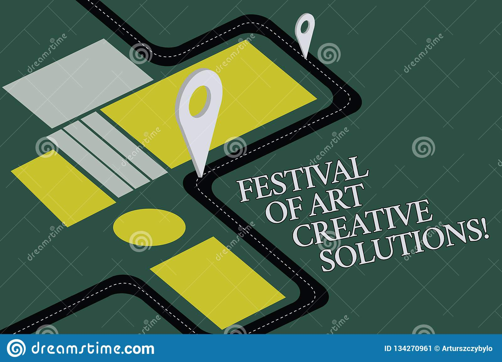 Conceptual Hand Writing Showing Festival Of Art Creative Solutions