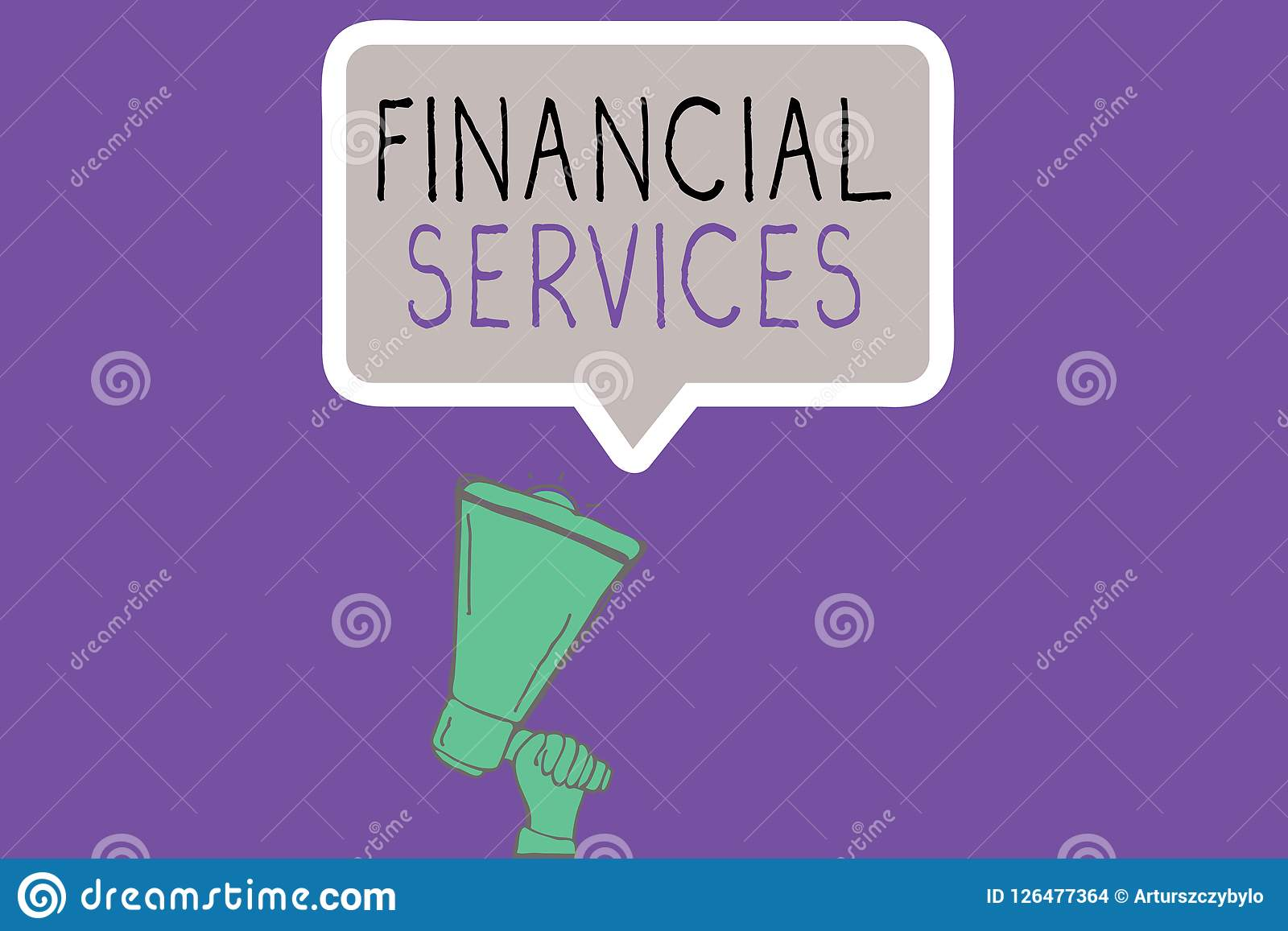 Conceptual hand writing showing Financial Services. Business photo showcasing Money and Investment Leasing Lending Stocks Brokerag