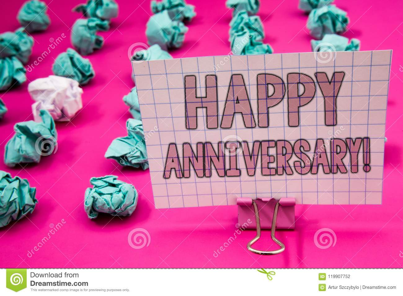 Conceptual hand writing showing Happy Anniversary Motivational Call. Business photo showcasing Annual Special Milestone Commemorat