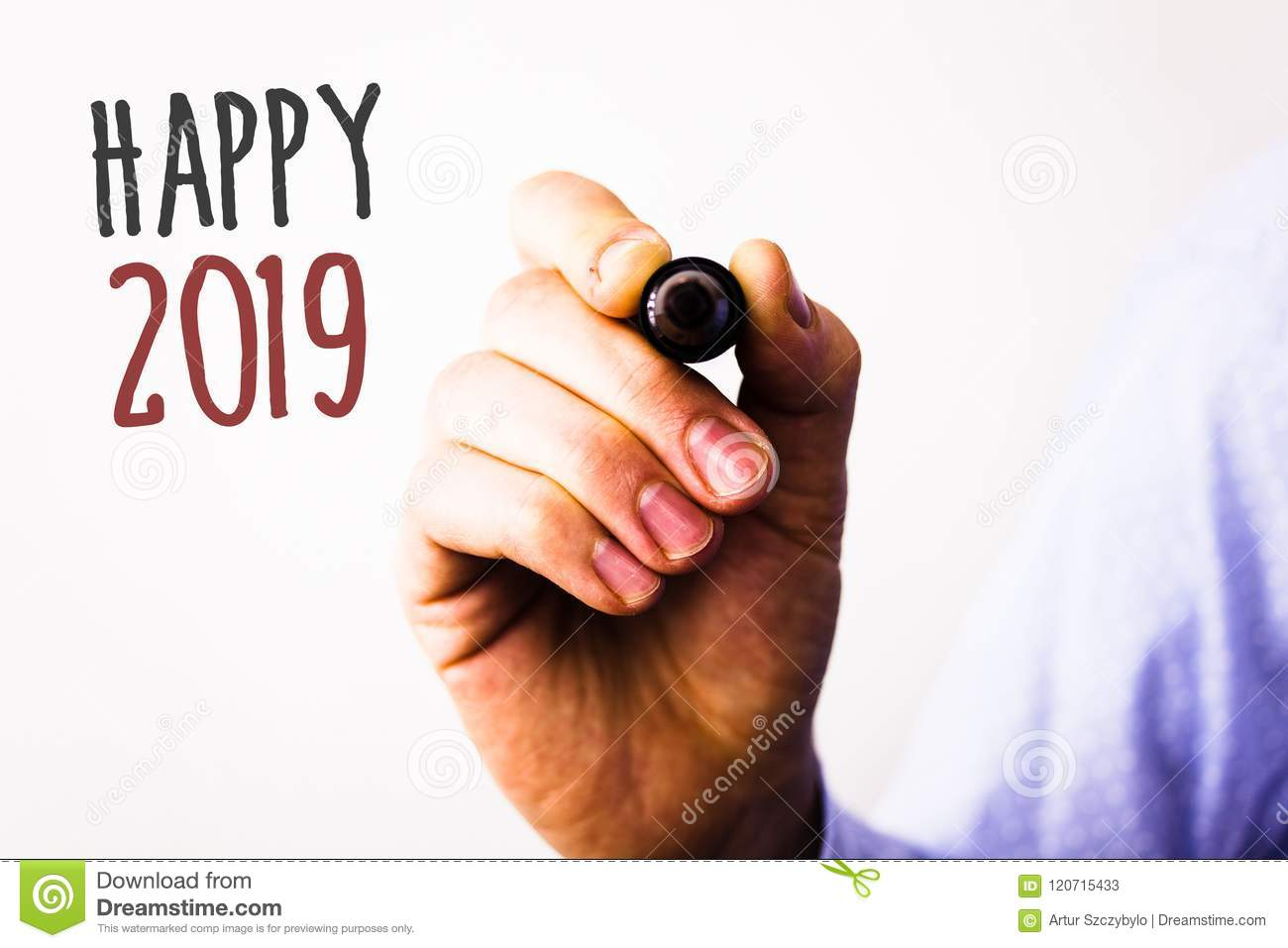 Conceptual Hand Writing Showing Happy 2019. Business Photos Text New ...