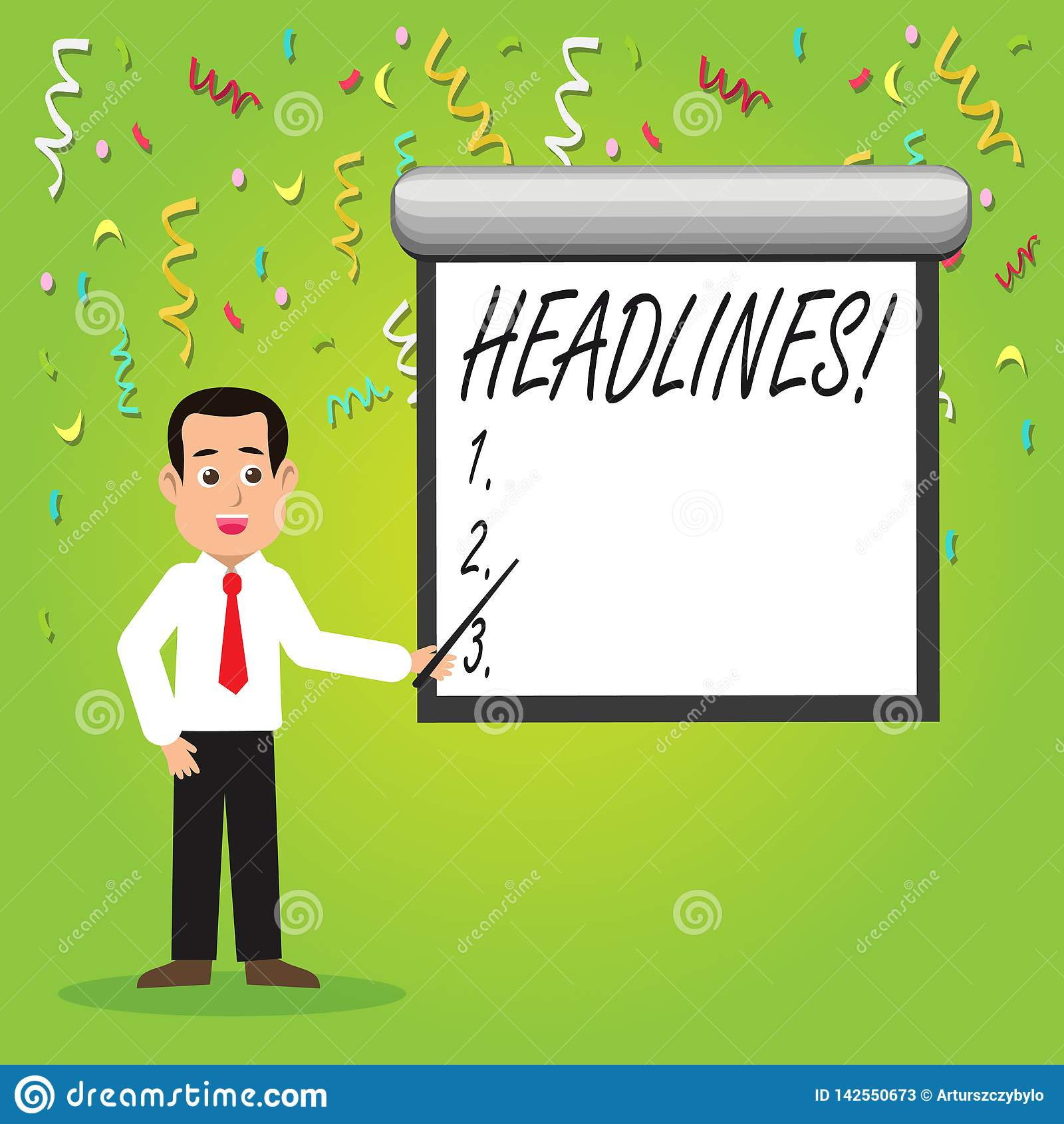 Conceptual hand writing showing Headlines. Business photo showcasing Heading at the top of an article in newspaper Man