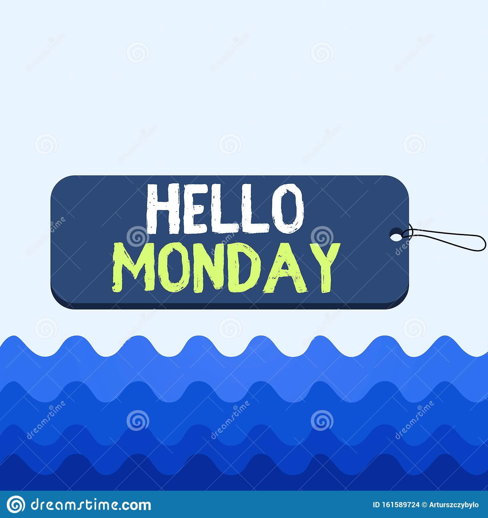 Conceptual Hand Writing Showing Hello Monday. Business