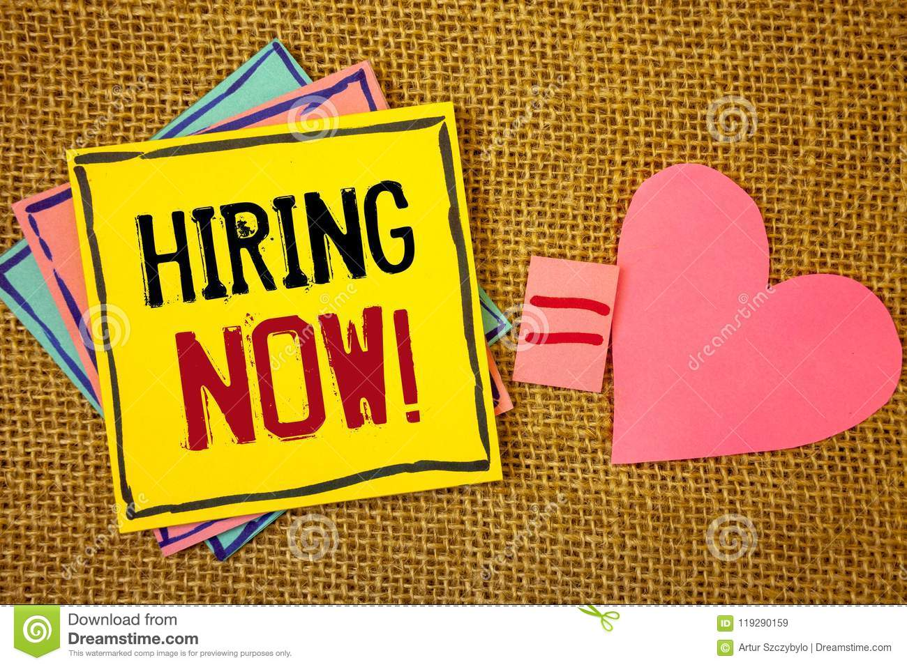 Conceptual hand writing showing Hiring Now Motivational Call. Business photos text Workforce Wanted Employees RecruitmentIdeas cre