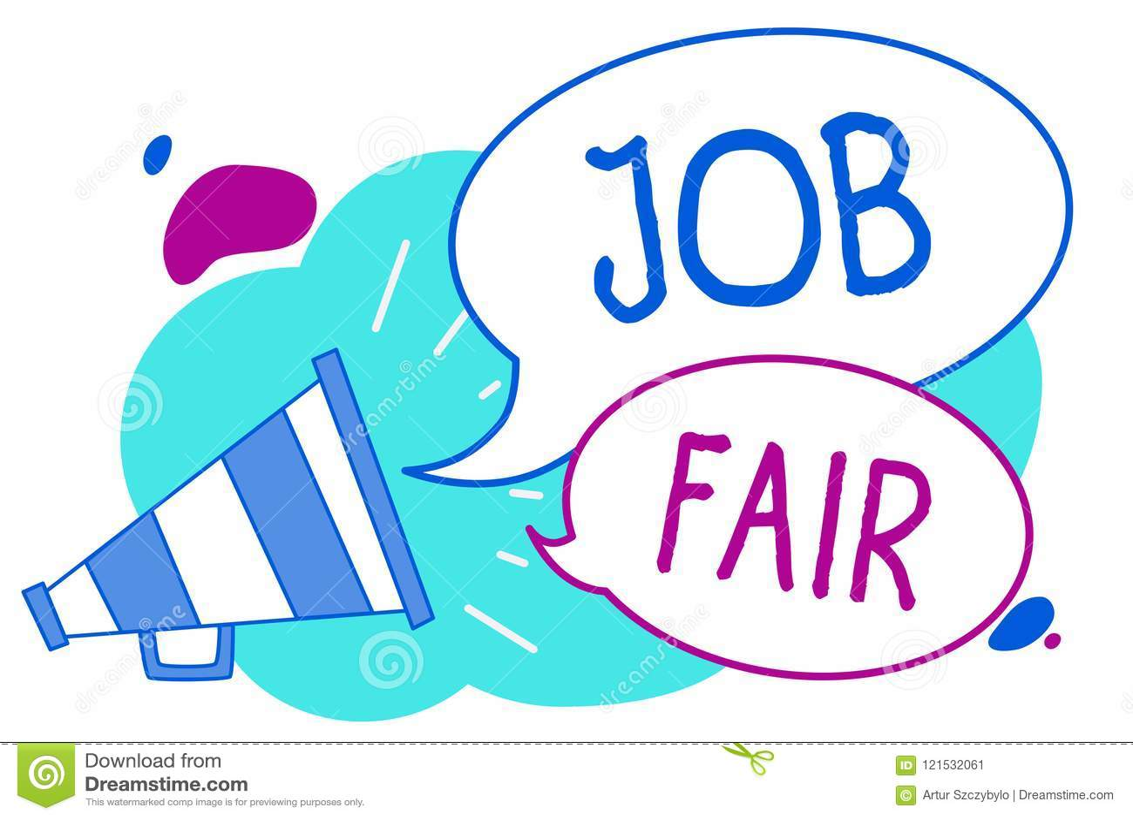 Conceptual Hand Writing Showing Job Fair Business Photo Text An
