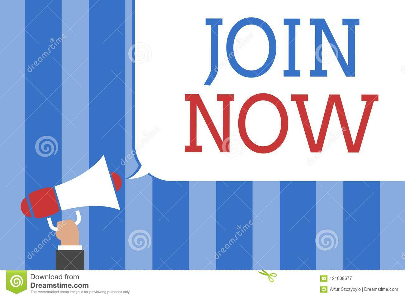 Conceptual Hand Writing Showing Join Now  Business Photo