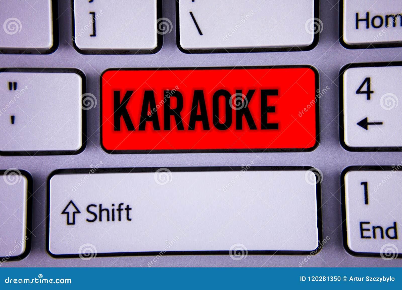 Conceptual Hand Writing Showing Karaoke  Business Photo Text