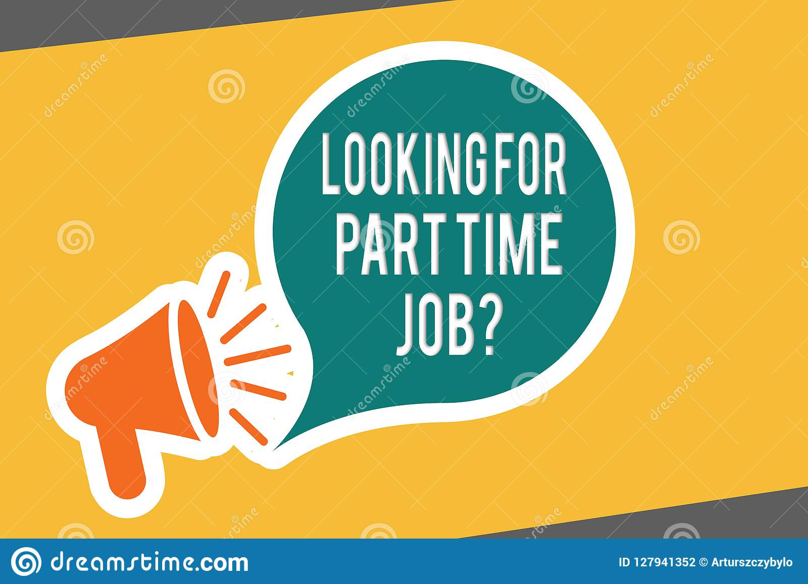 Conceptual Hand Writing Showing Looking For Part Time Job Question