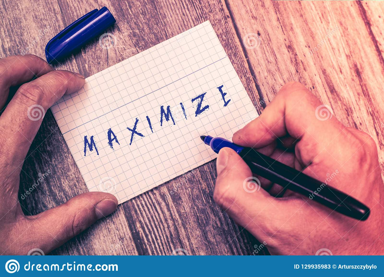 Conceptual hand writing showing Maximize. Business photo showcasing make as large or great as possible best use of