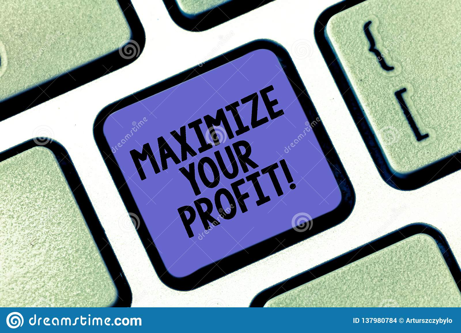Conceptual hand writing showing Maximize Your Profit. Business photo text Achieve a maximum profit with low operating