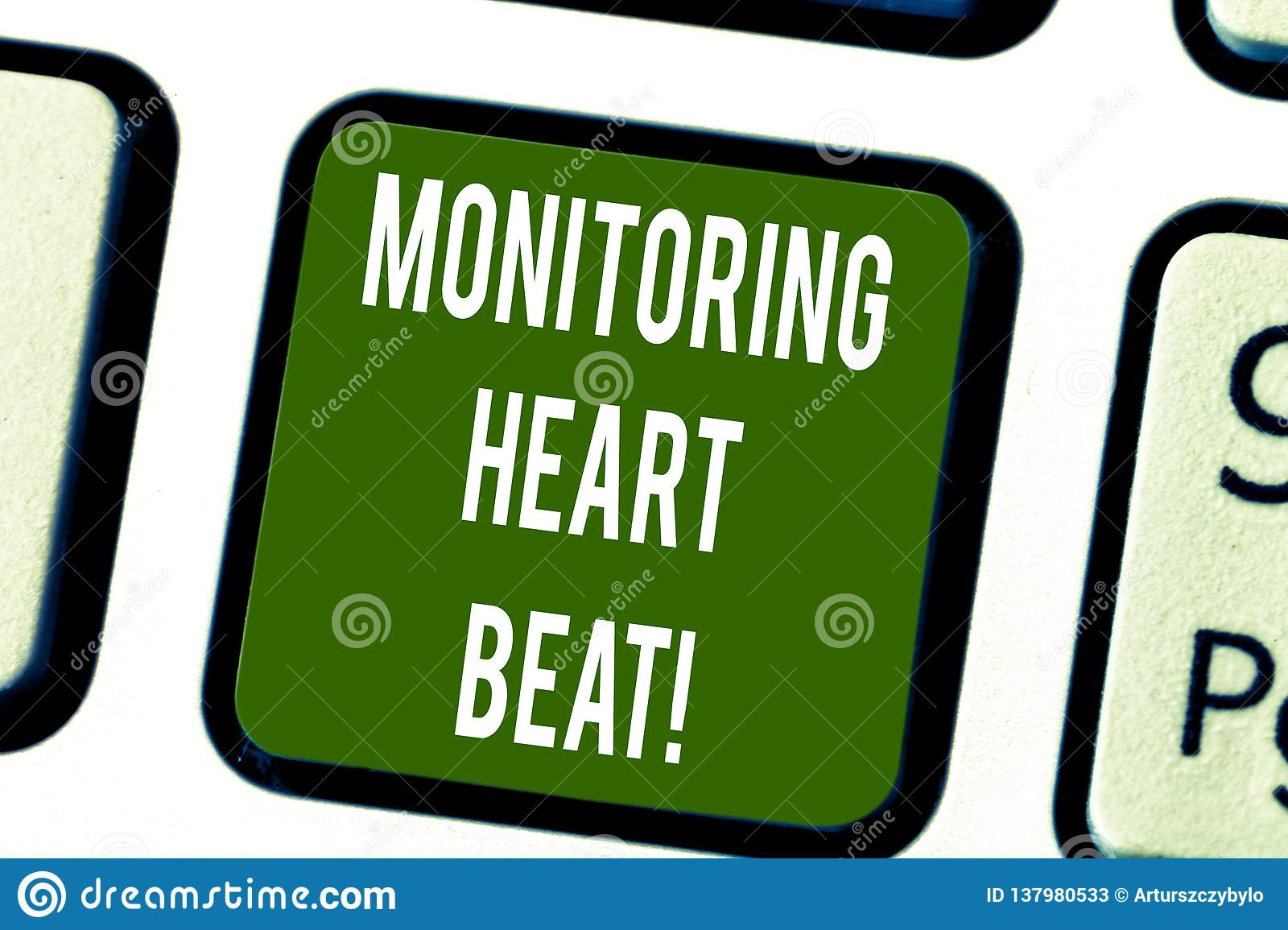 Conceptual hand writing showing Monitoring Heart Beat. Business photo text Measure or record the heart rate in real time