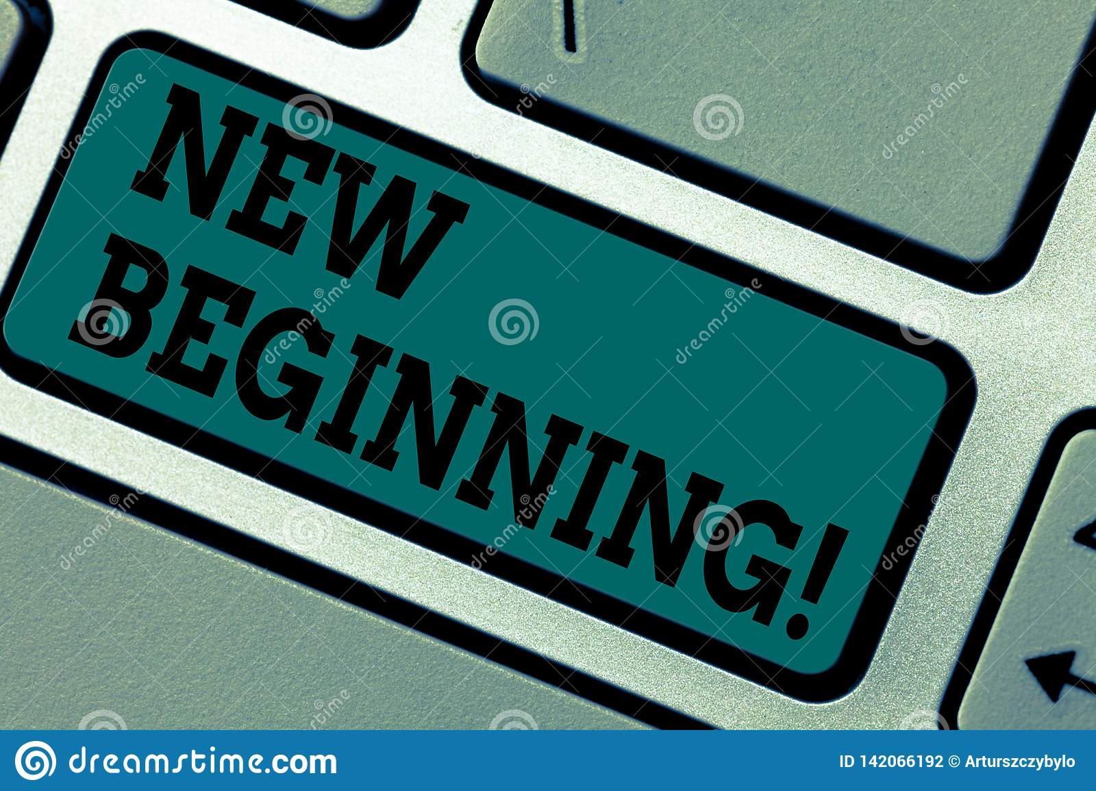 Conceptual hand writing showing New Beginning. Business photo showcasing Fresh Start Changing Form Growth Life New Way to Work