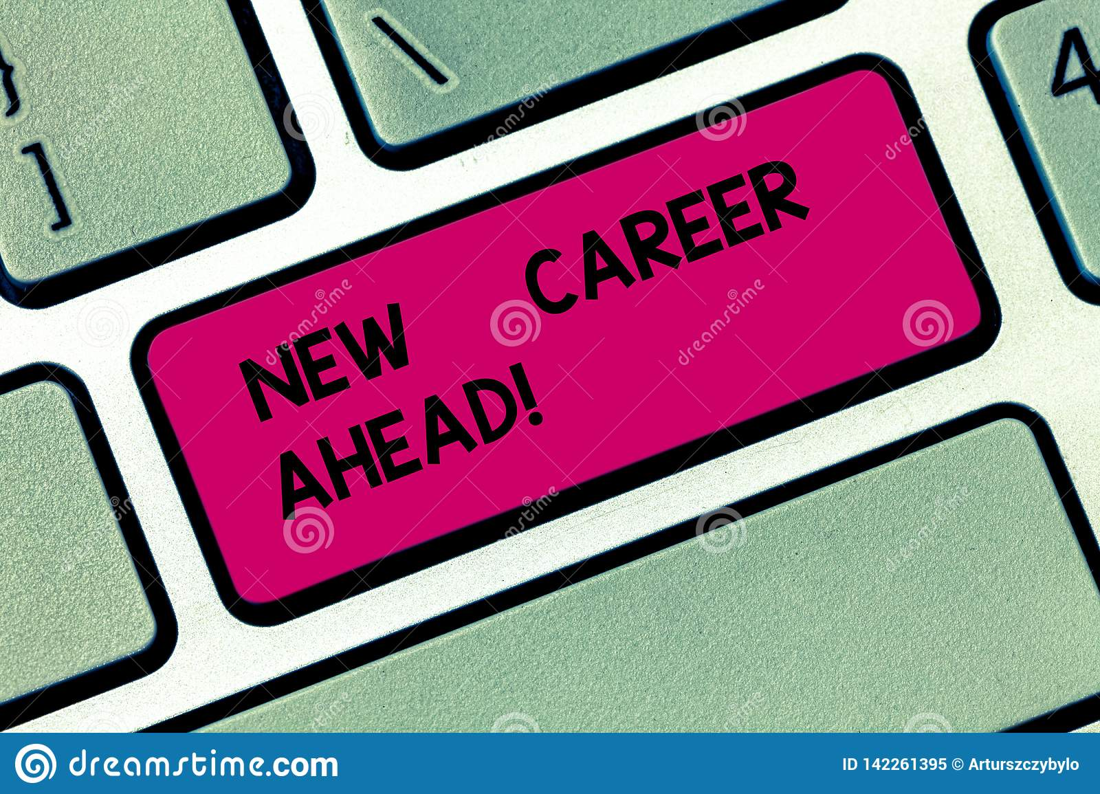 Conceptual Hand Writing Showing New Career Ahead Business Photo
