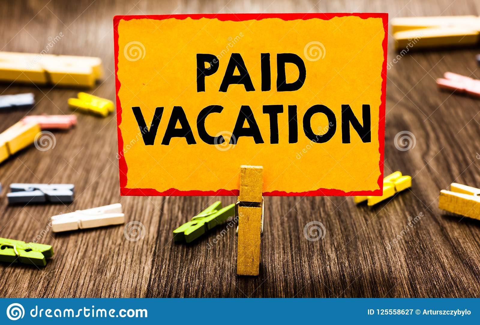 Conceptual Hand Writing Showing Paid Vacation. Business ...