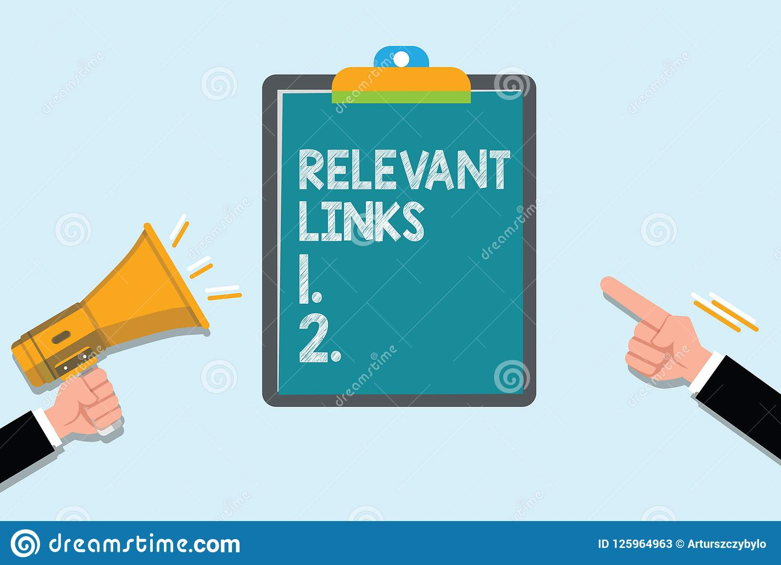 Conceptual hand writing showing Relevant Links. Business photo text Significant sites for a particular topic Associated