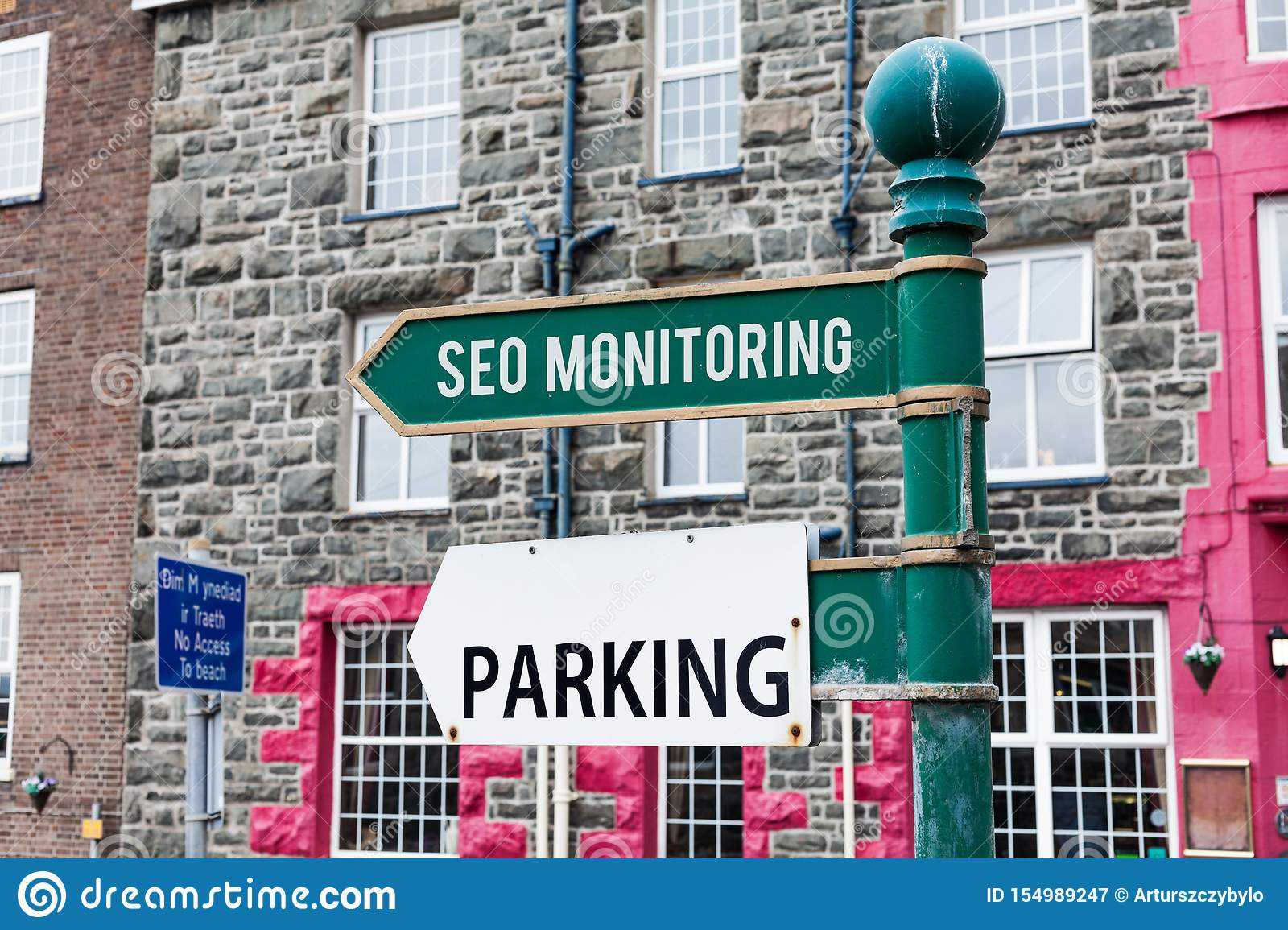 Conceptual hand writing showing Seo Monitoring. Business photo showcasing Tracking the progress of strategy made in the