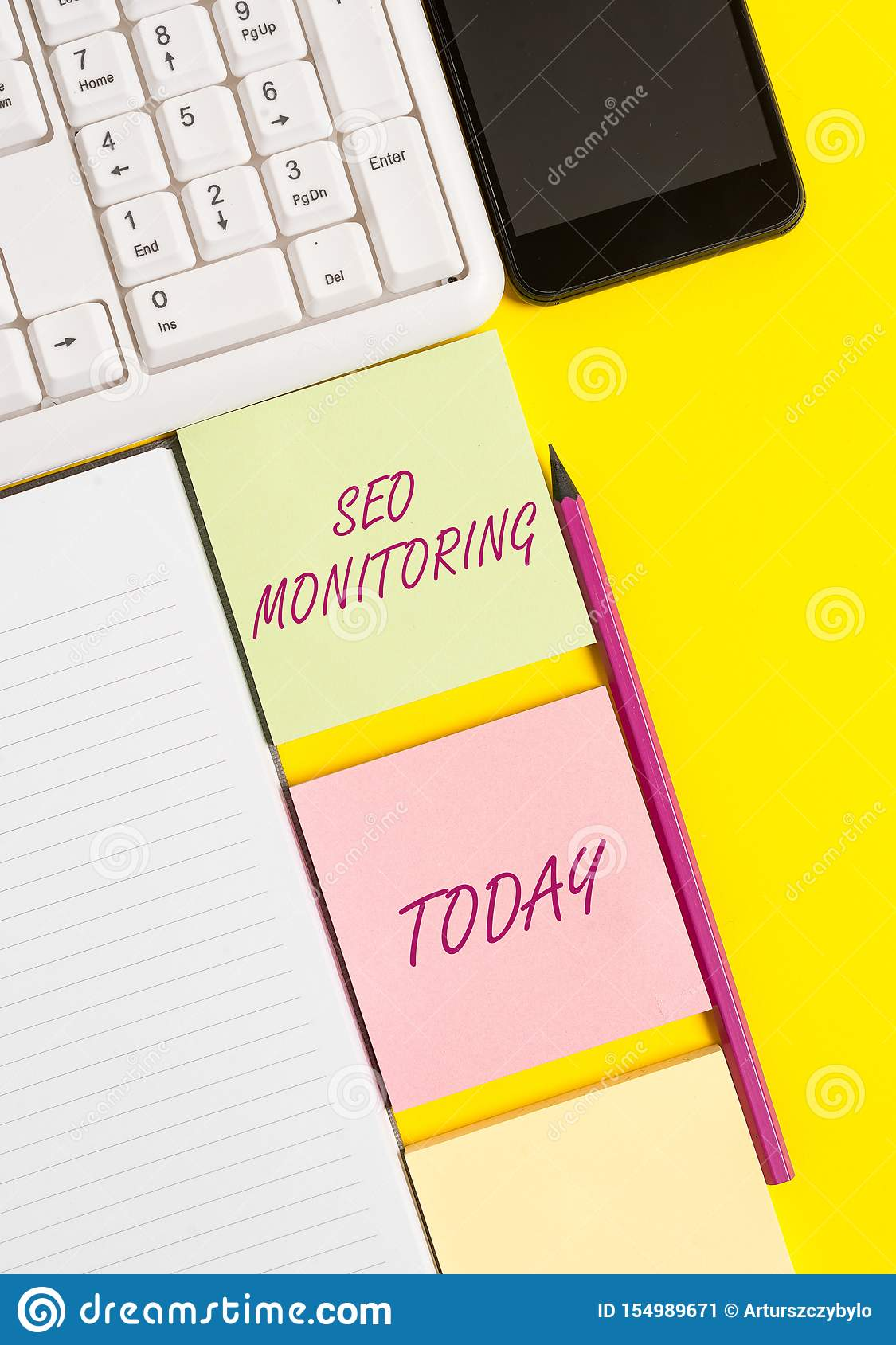 Conceptual hand writing showing Seo Monitoring. Business photo text Tracking the progress of strategy made in the