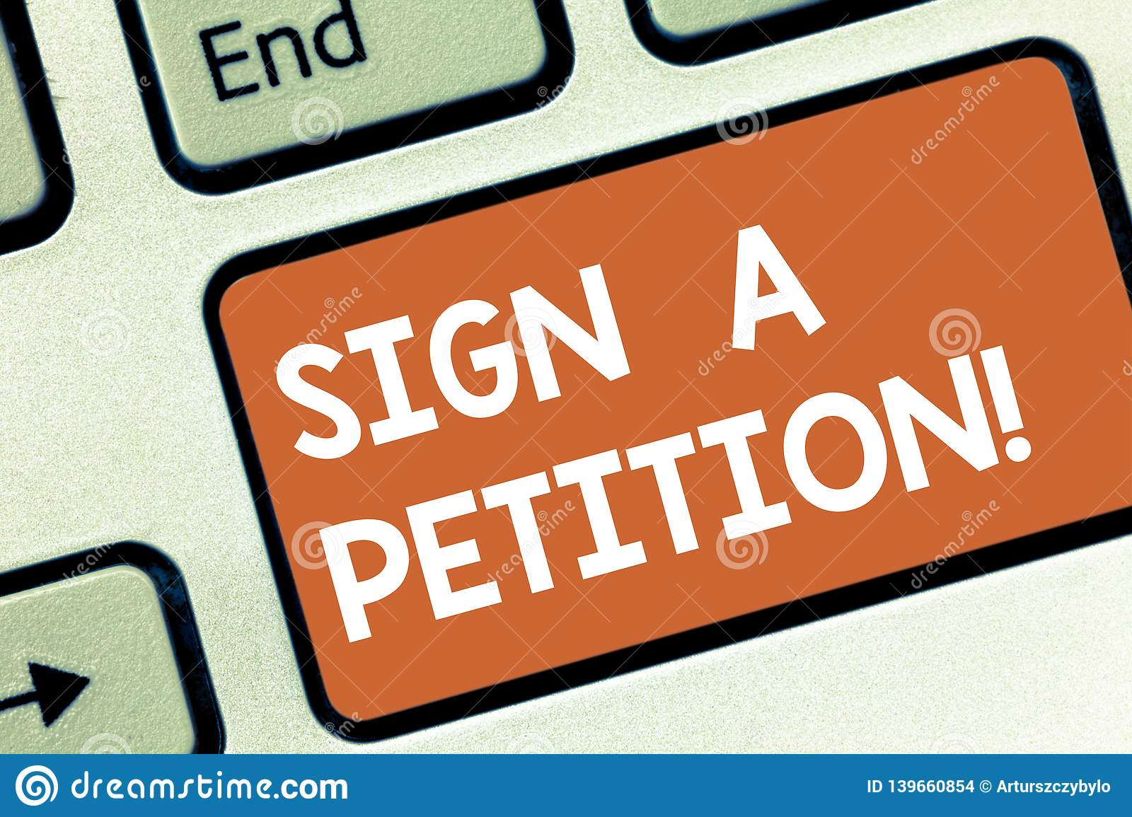 Conceptual hand writing showing Sign A Petition. Business photo showcasing Support a cause by signing paper with an
