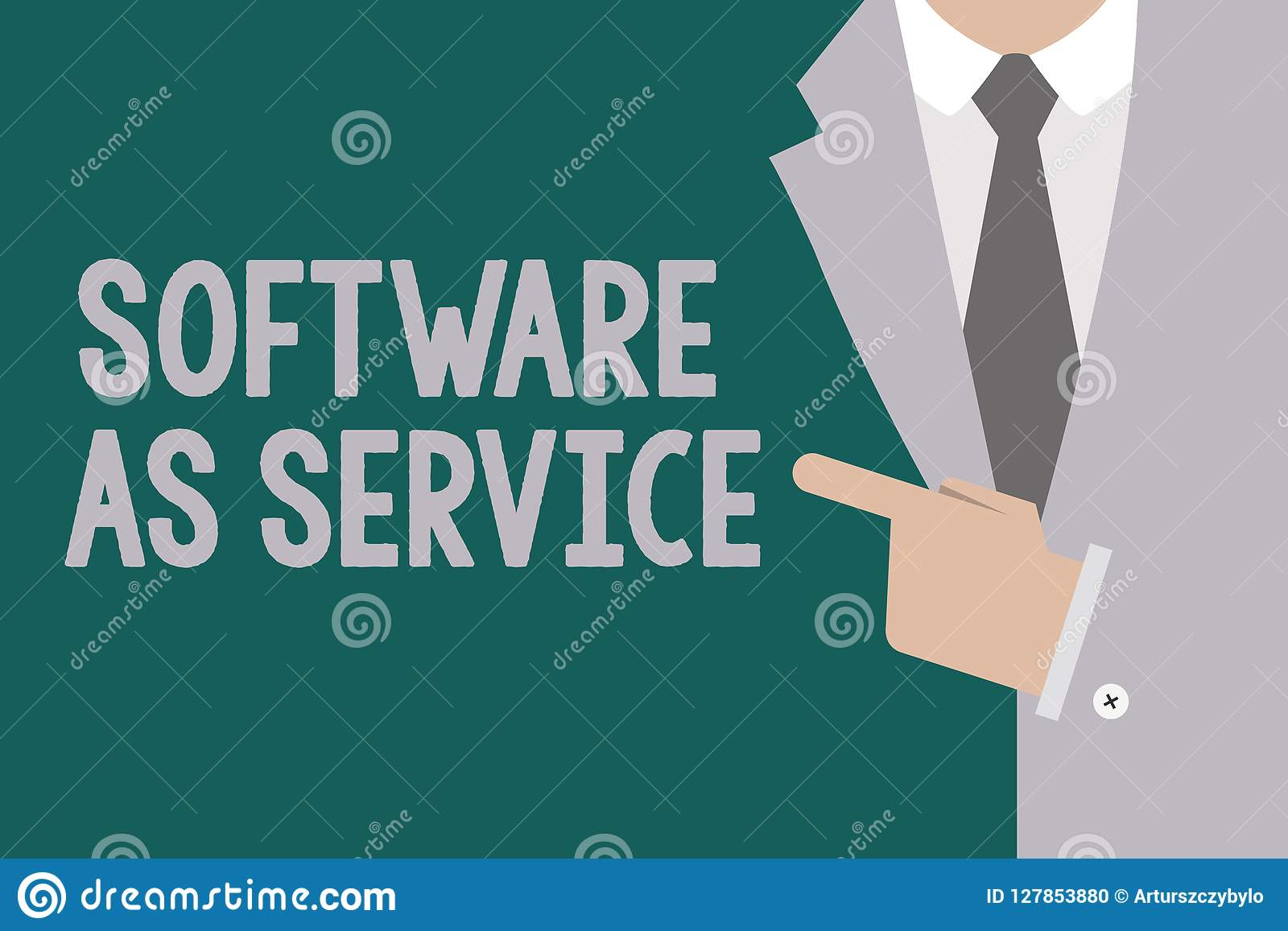 Conceptual hand writing showing Software As Service. Business photo text On Demand licensed on Subscription and