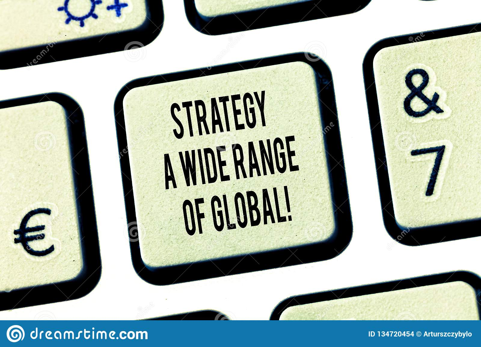 Conceptual hand writing showing Strategy A Wide Range Of Global. Business photo text Worldwide communications strategies