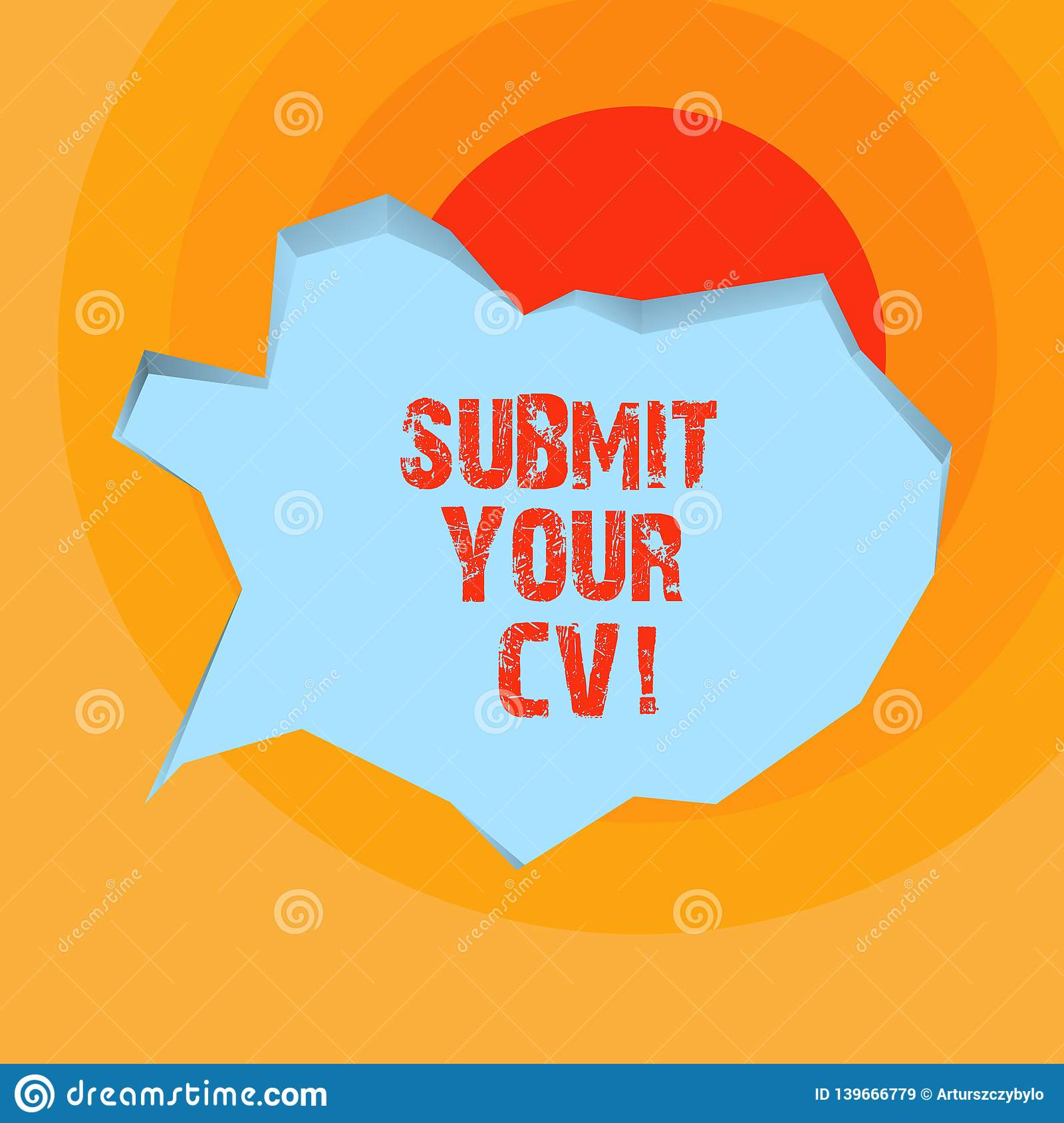 conceptual hand writing showing submit your cv  business