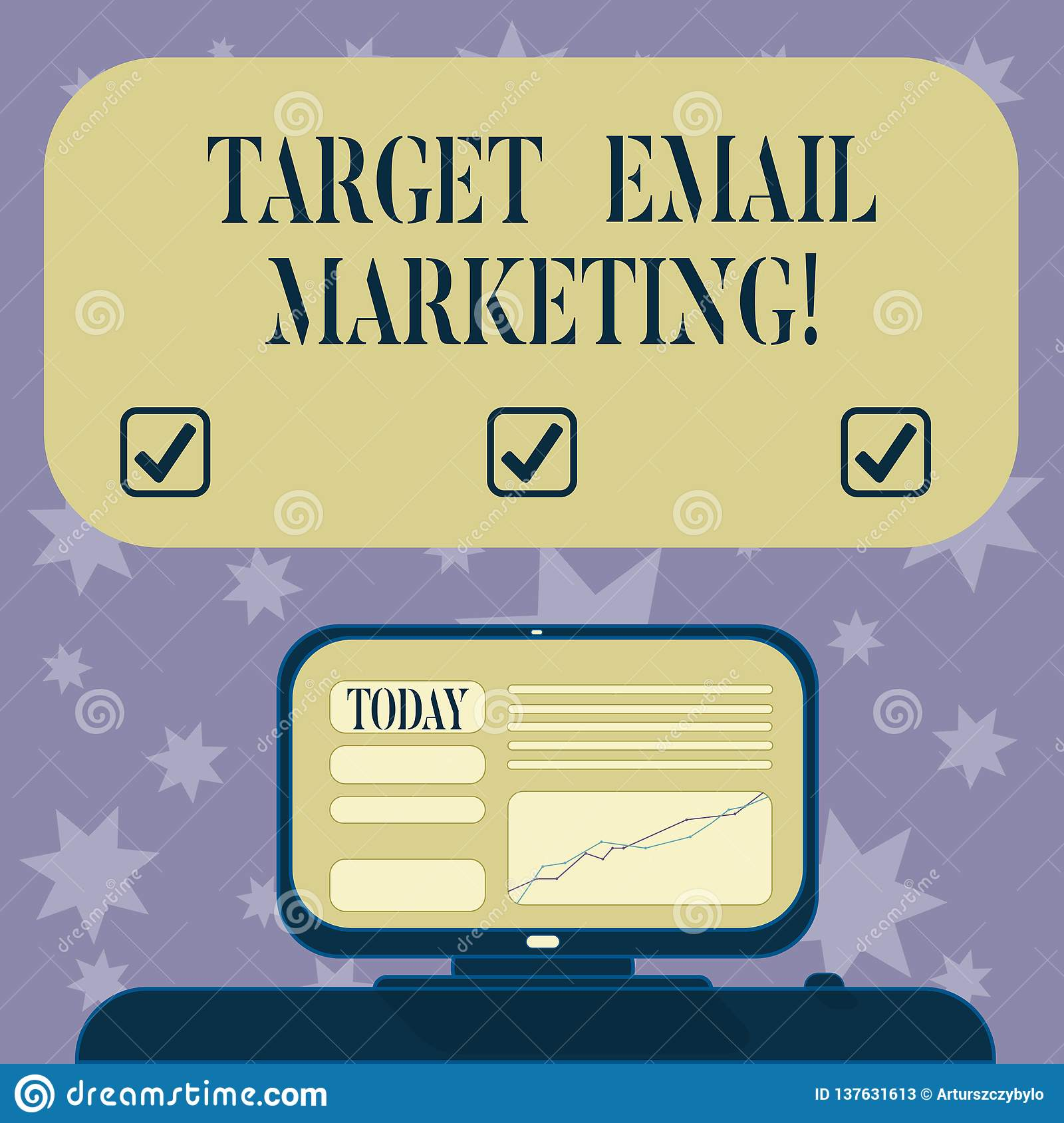 Conceptual Hand Writing Showing Target Email Marketing